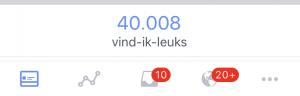 40.000 vind ik leuks