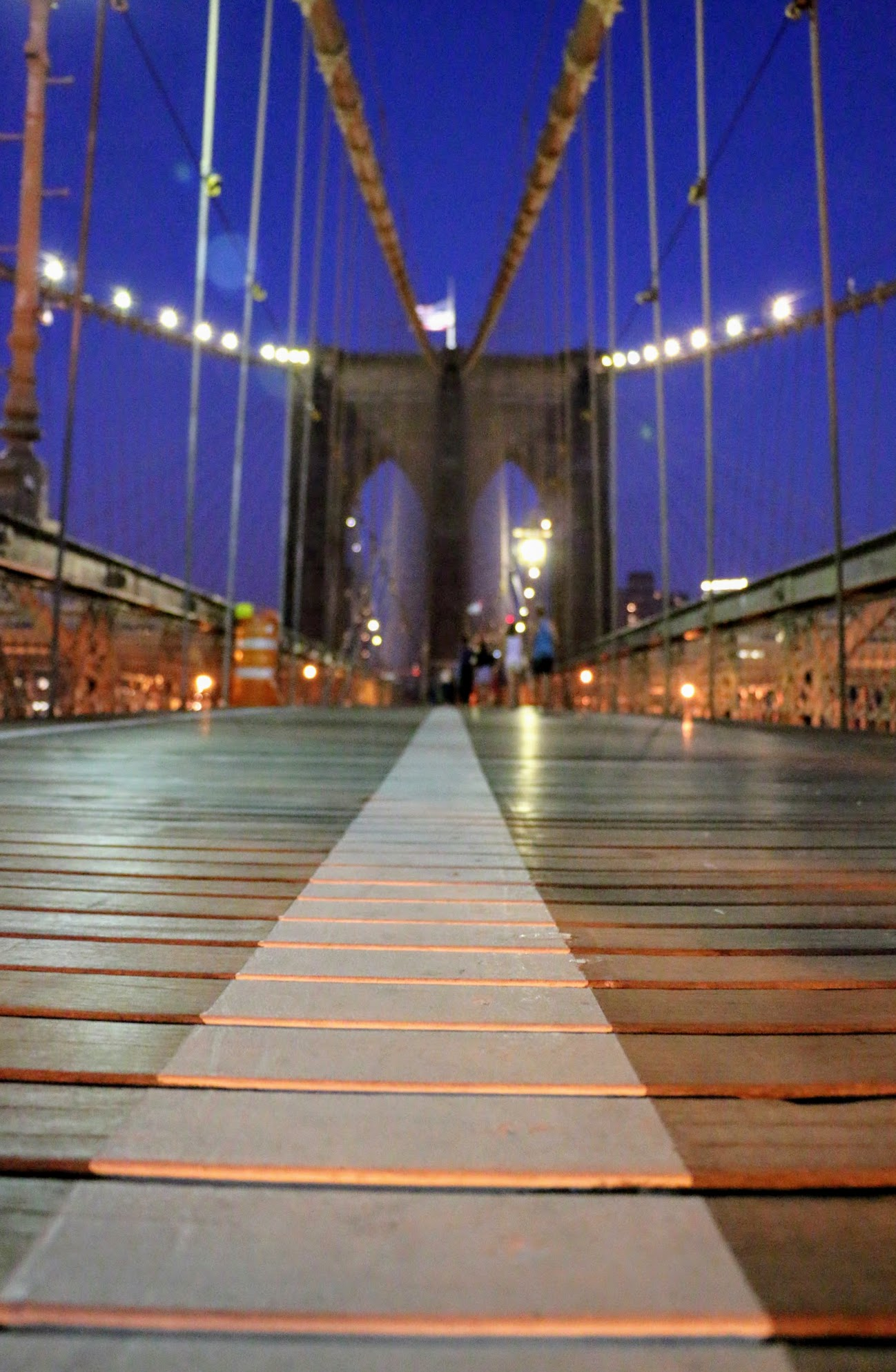 Wandelpad over de Brooklyn Bridge