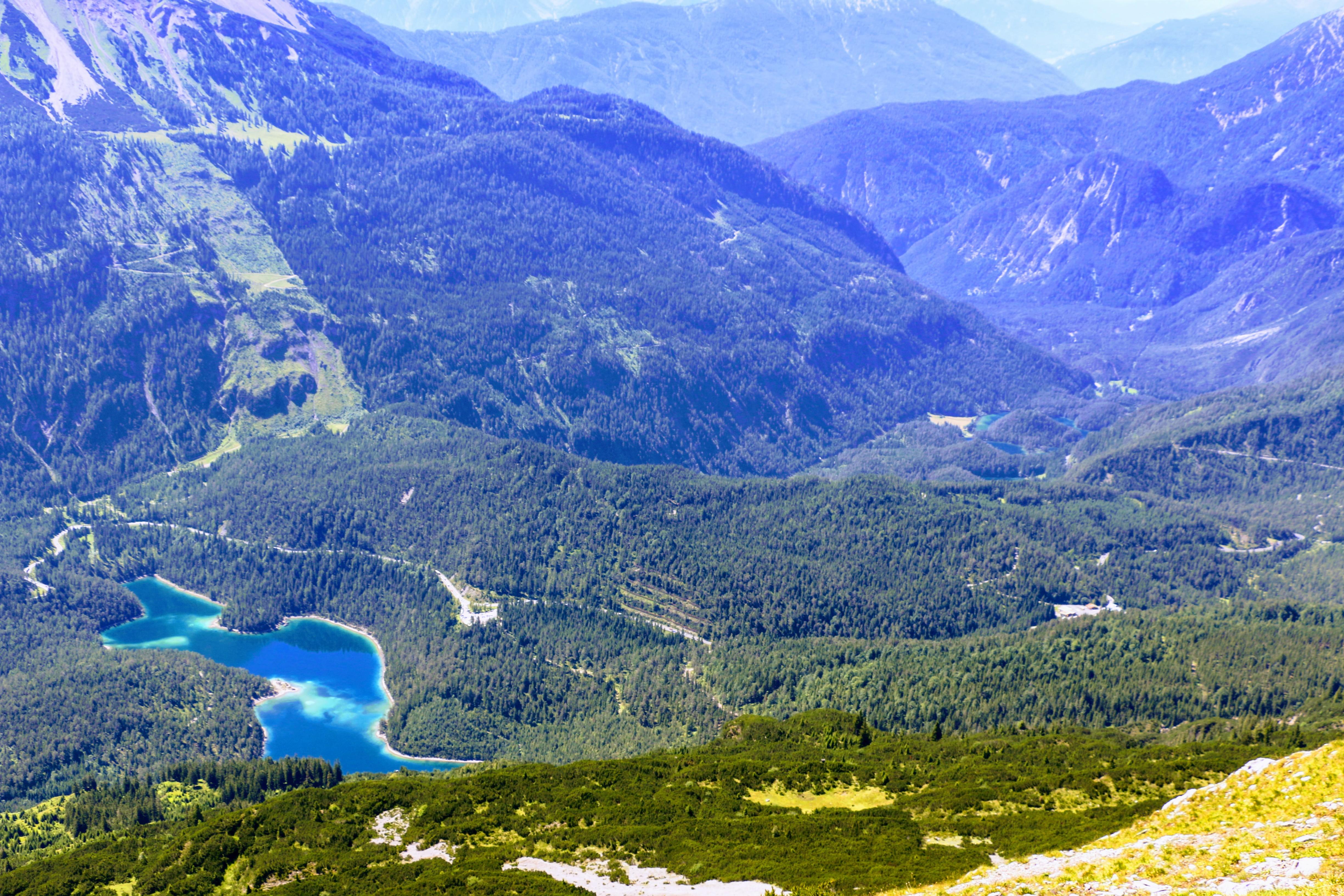 Blindsee Fernpass - gezien vanaf de Grubigstein