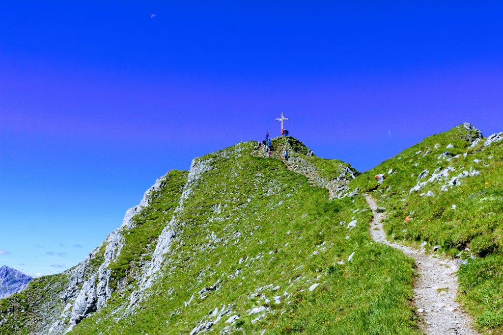 Wandelpad naar de top van de Grubigstein in Lermoos