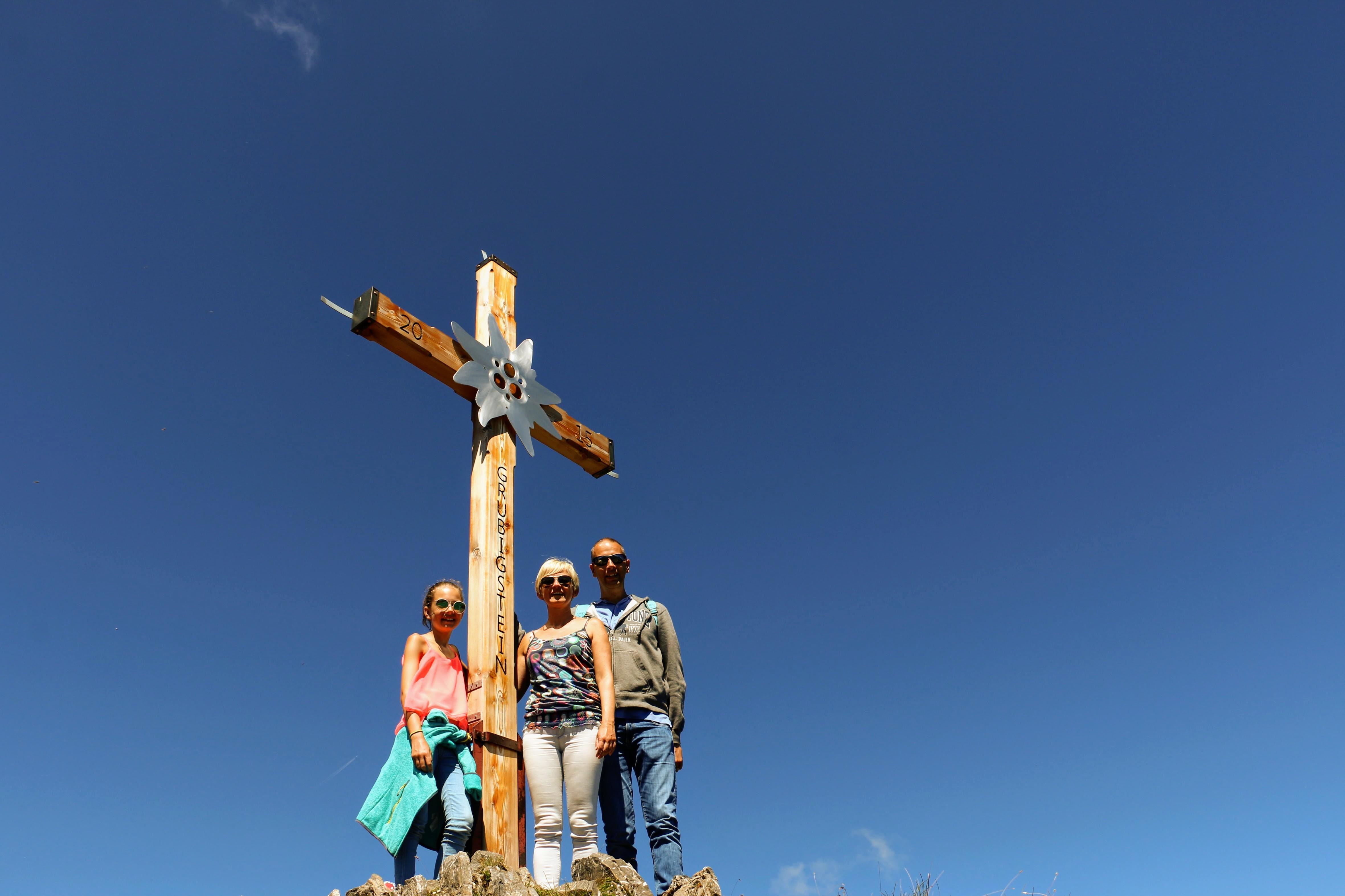 Het kruis op de top van de Grubigstein