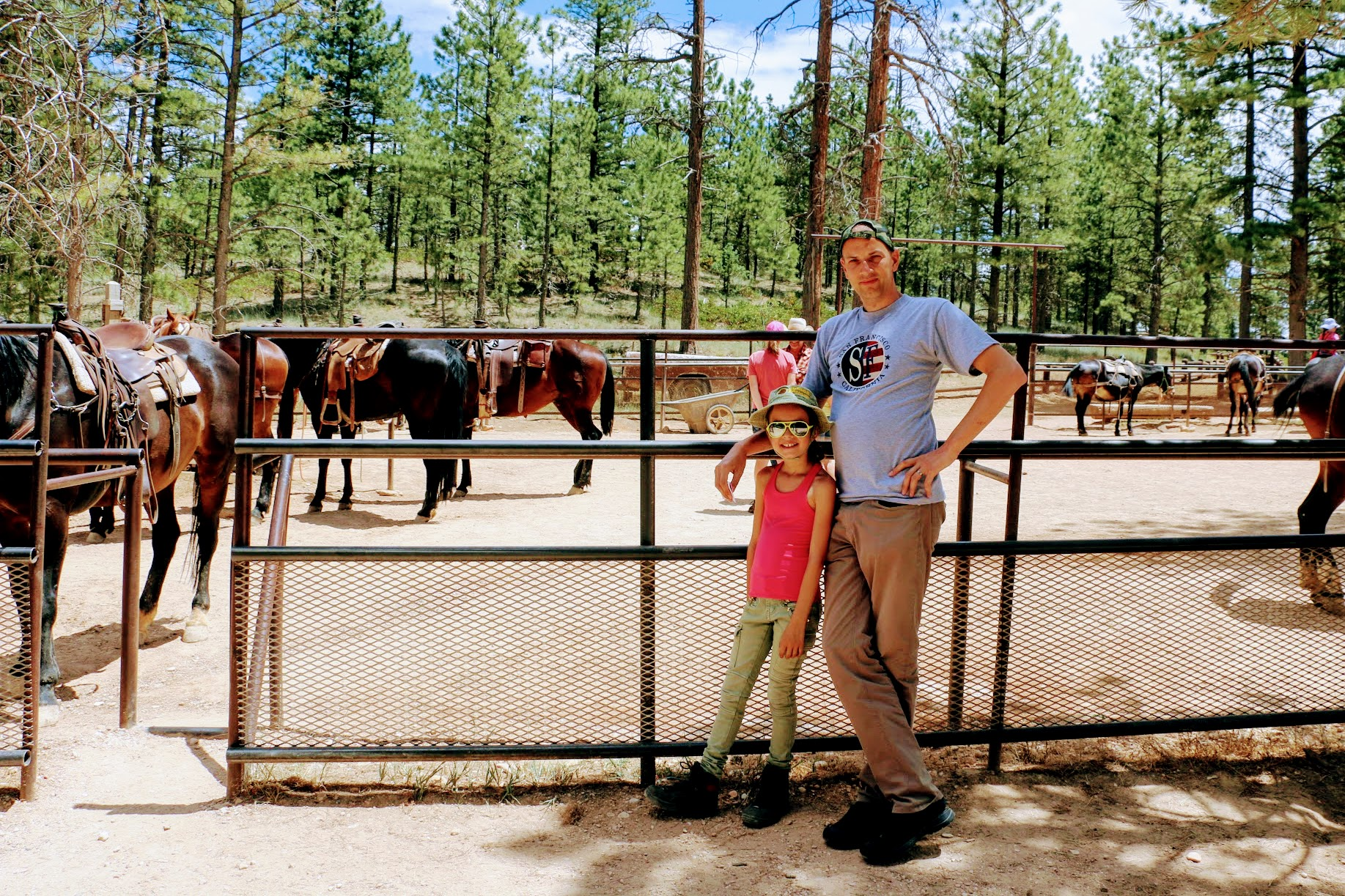 Paarden in Bryce Canyon