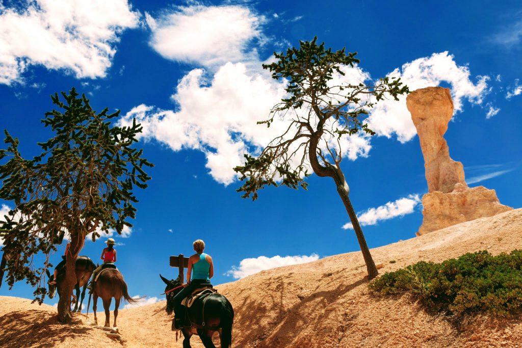 Paardrijden in Bryce Canyon National Park in Utah