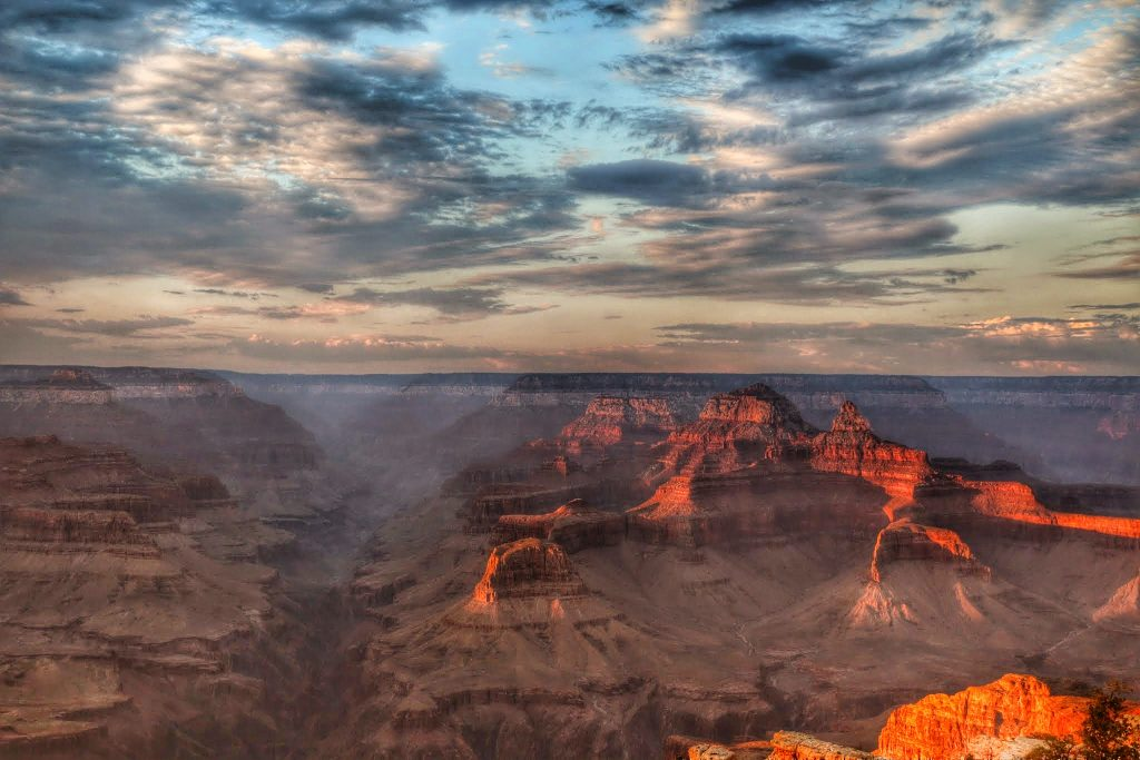 Grand Canyon zonsondergang