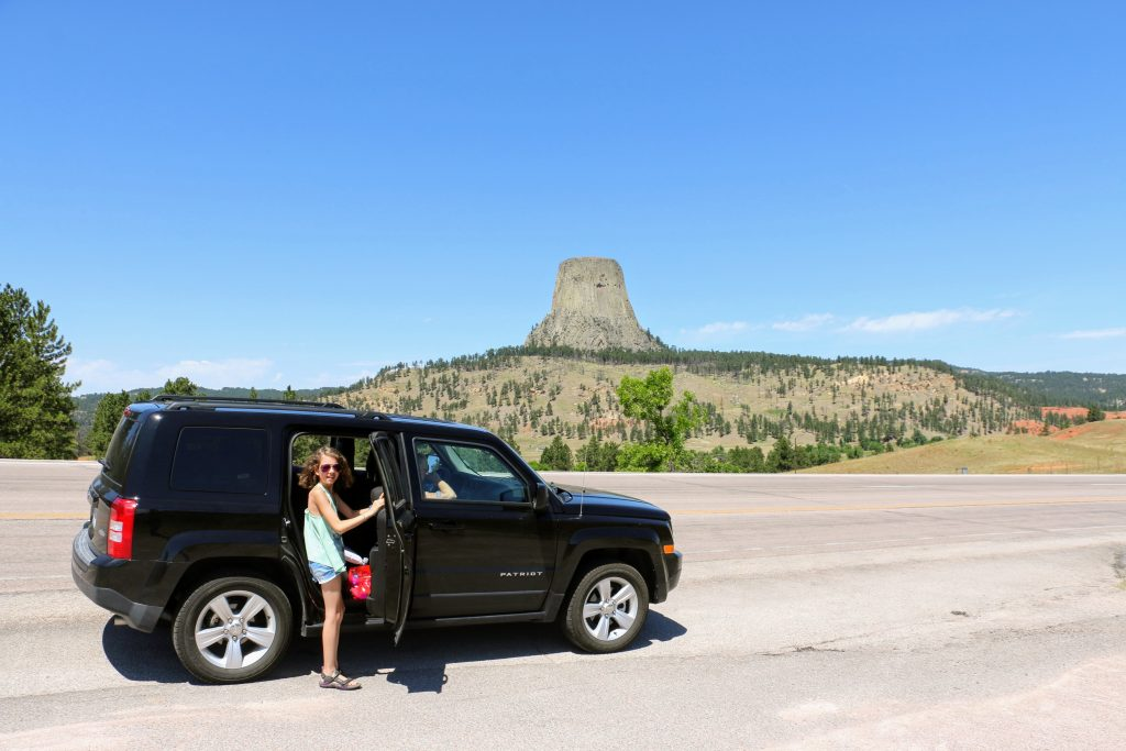 De route naar Devils Tower National Monument
