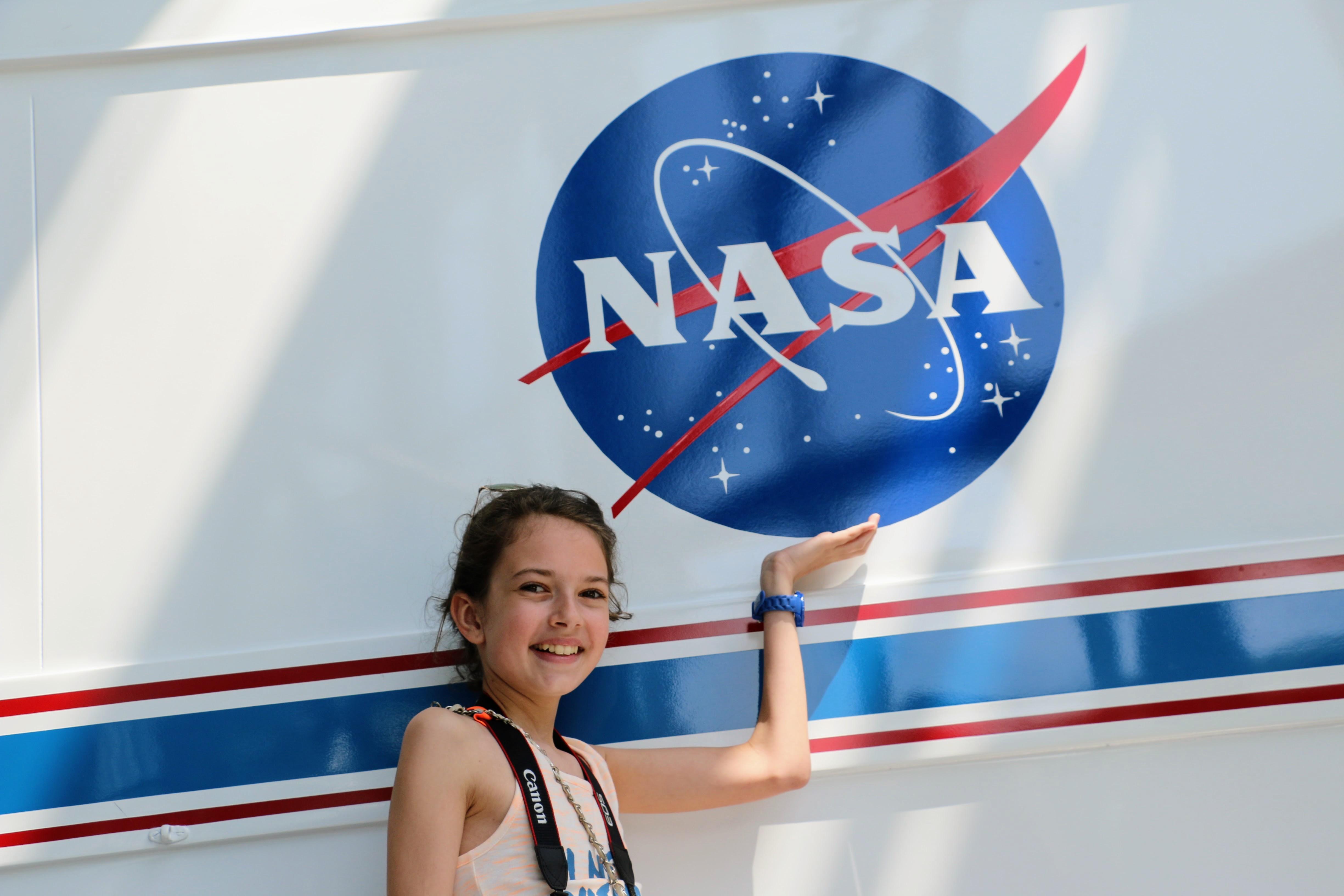 De NASA bezoeken met kinderen