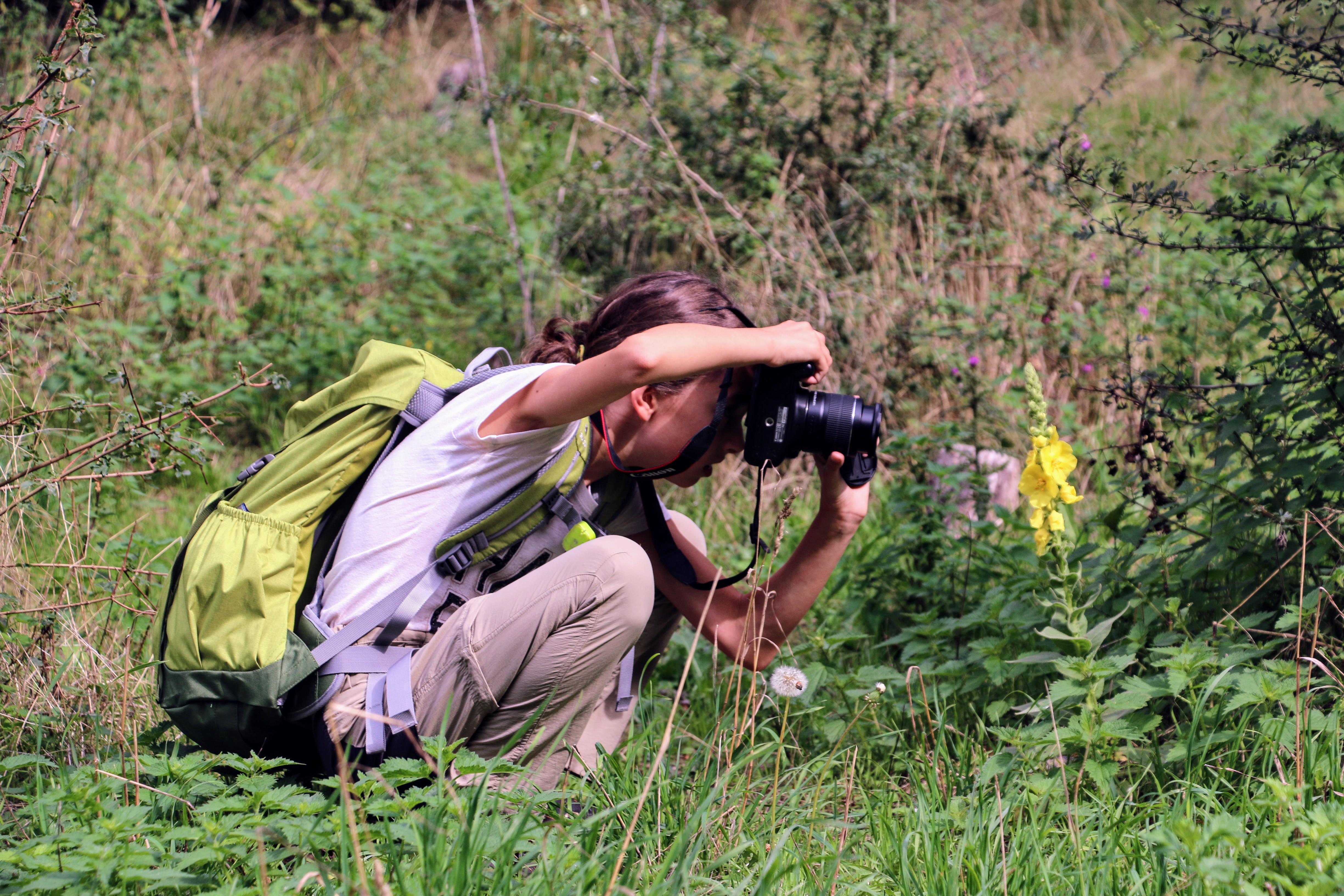 Foto's maken tijdens de blogwandeling