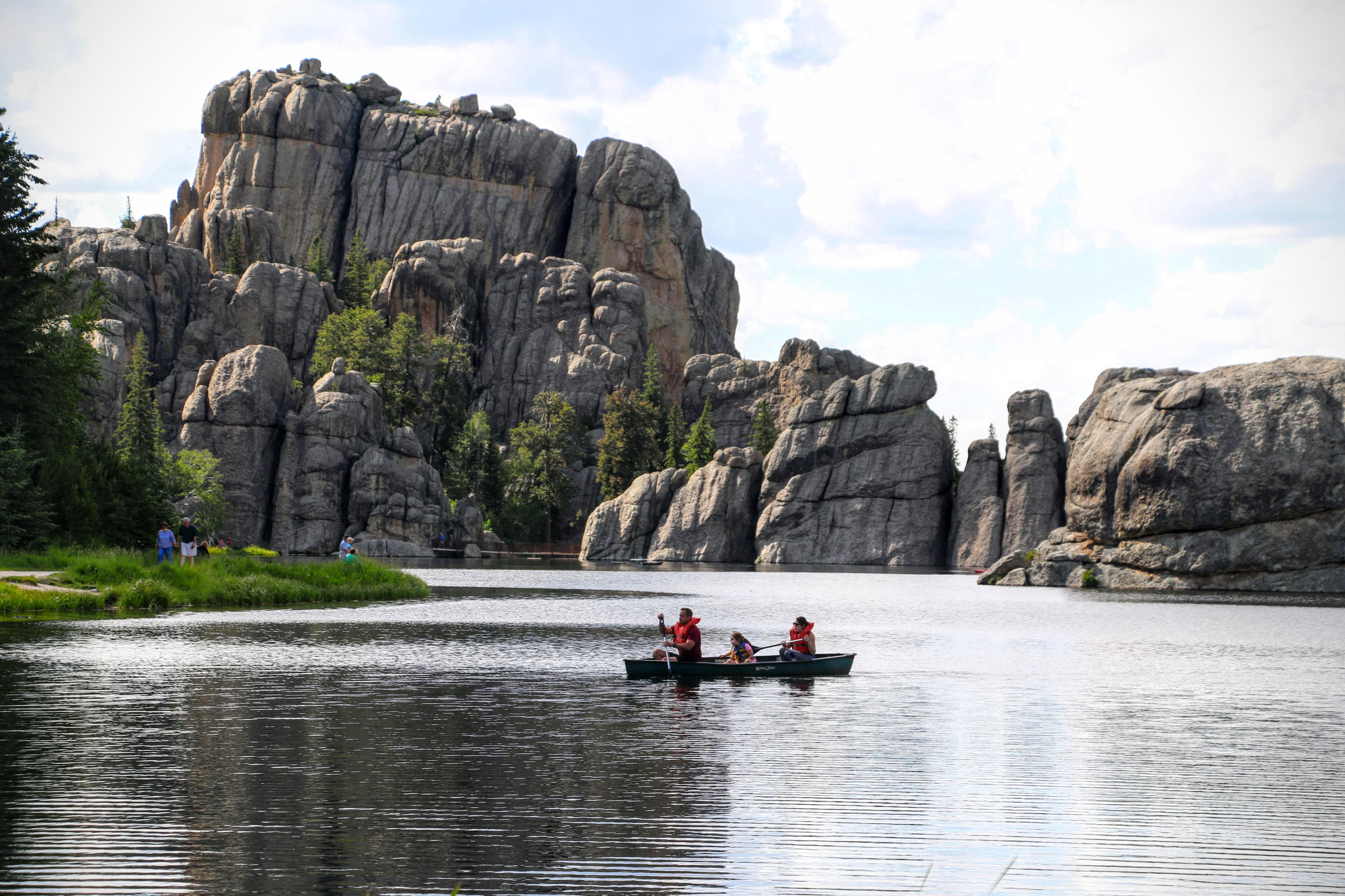Kajakken op Sylvan Lake