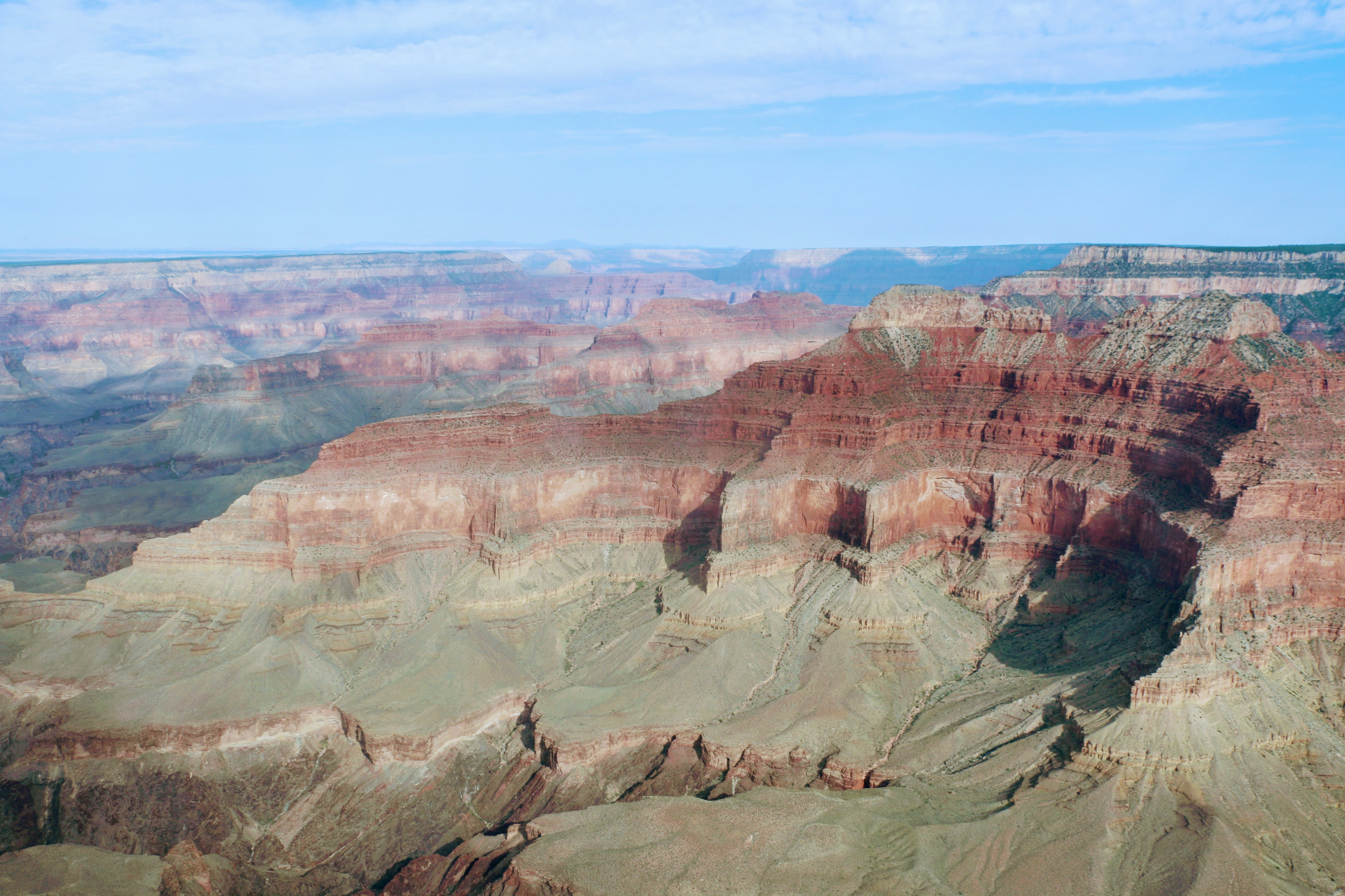 Over de Grand Canyon vliegen met helikopter