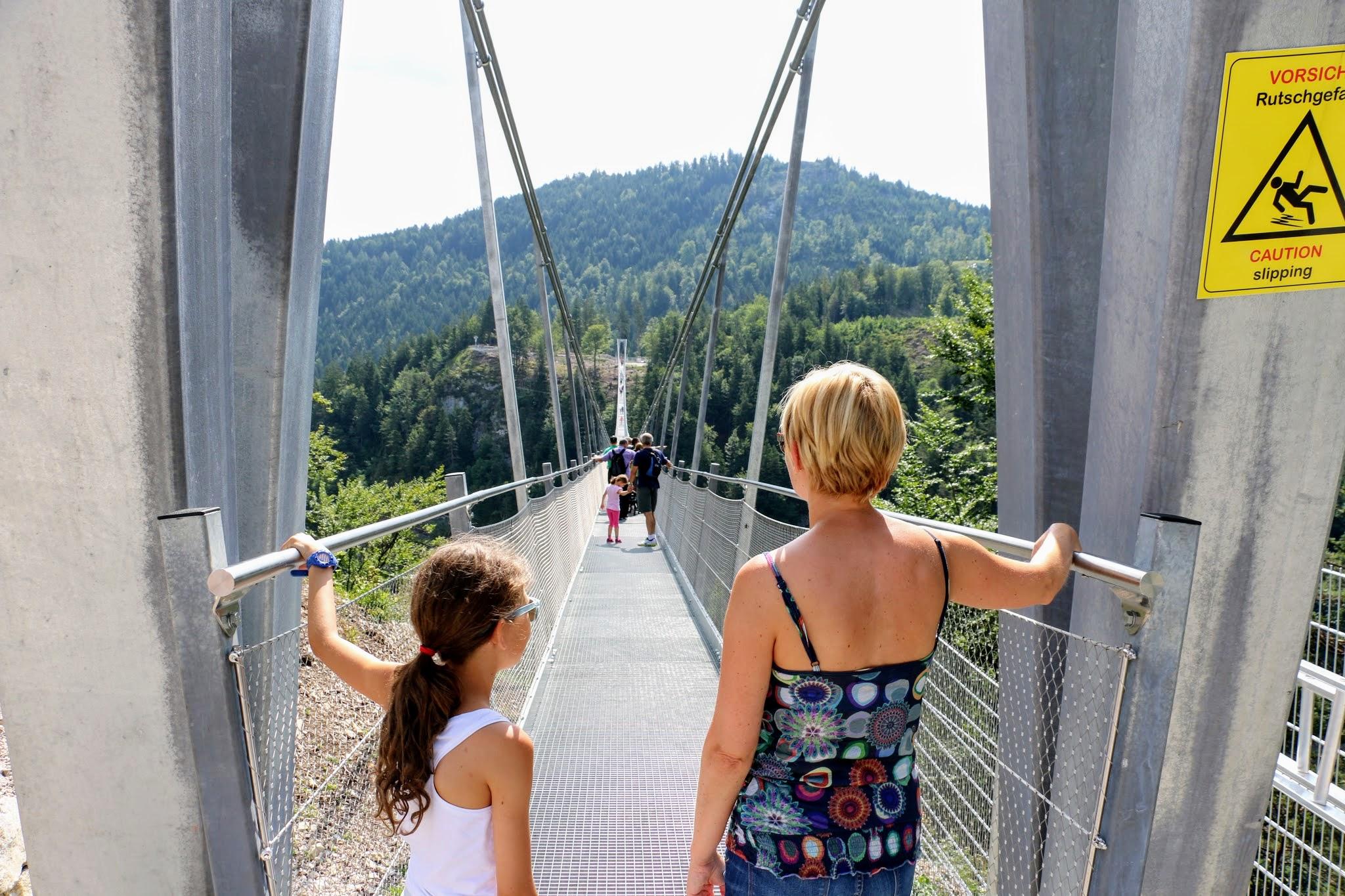 Highline179: voetgangershangbrug bij Reutte | Tirol in Oostenrijk