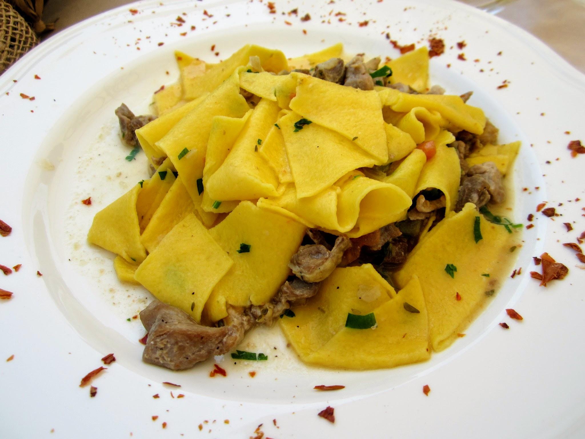 Heerlijke pasta aan het Gardameer