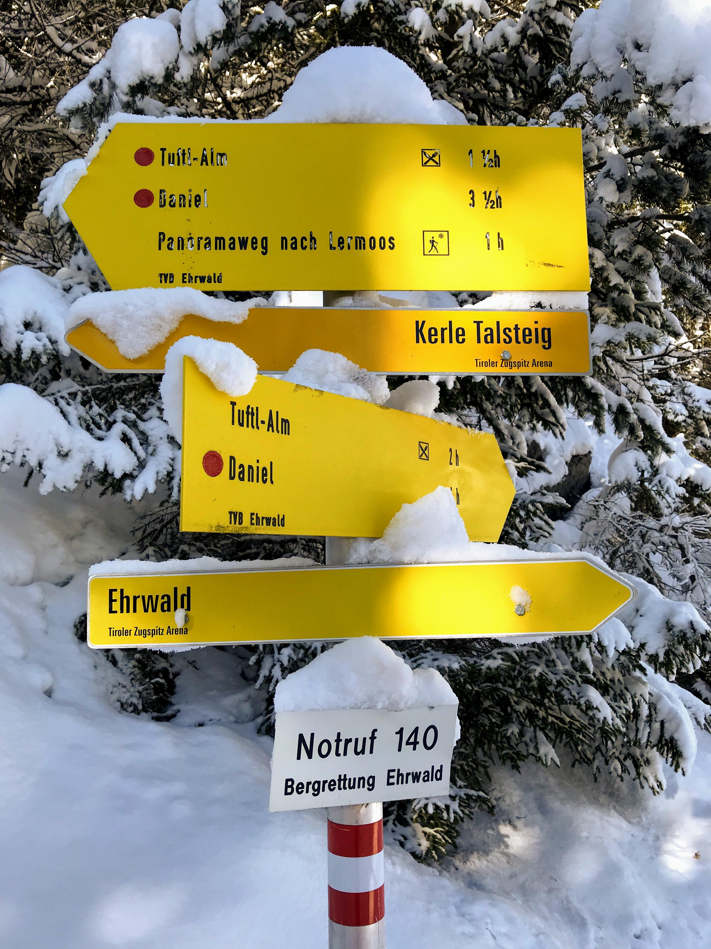 Winterwandelingen in de Zugspitzarena