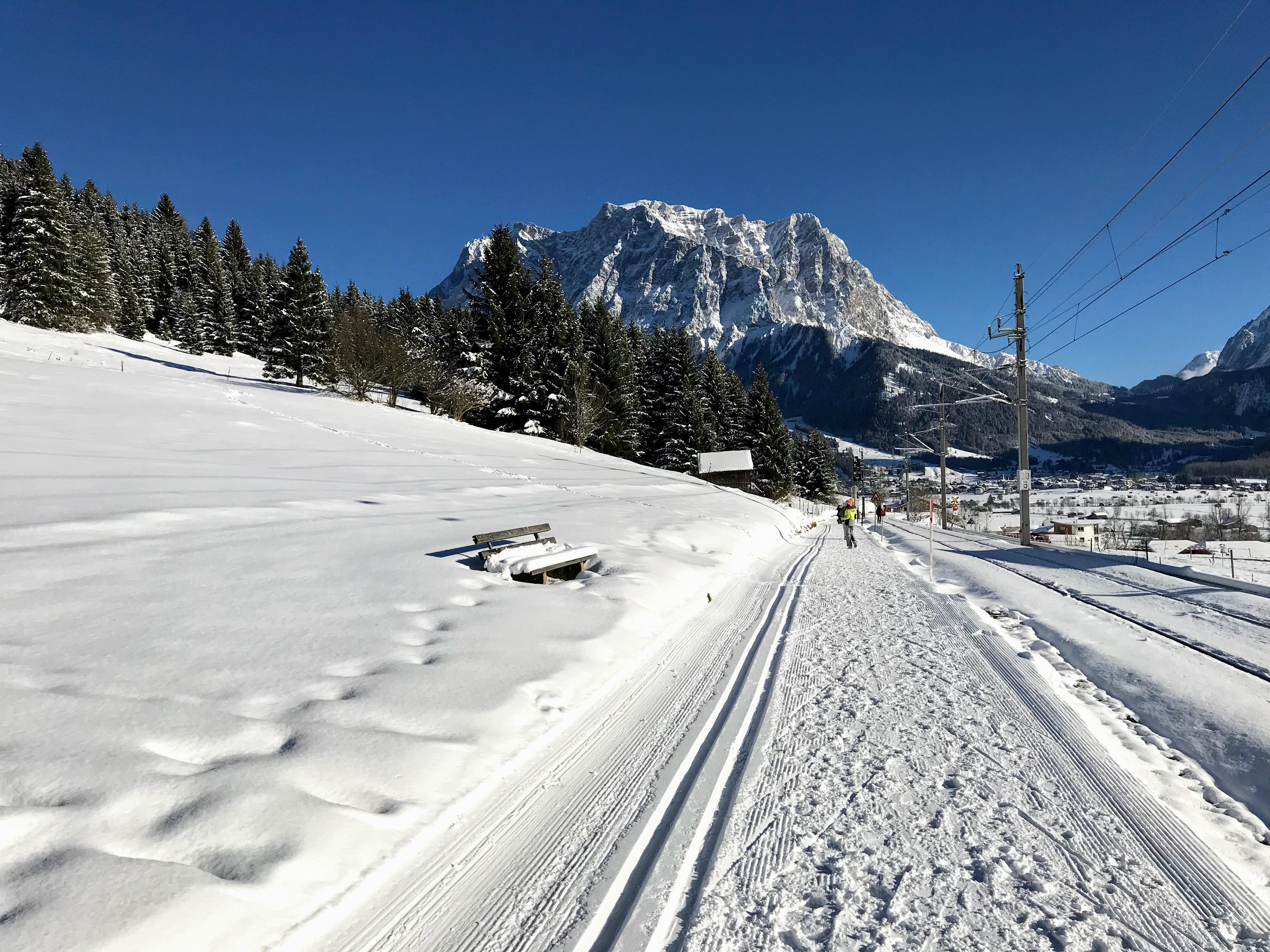 Wandelen in Lermoos winter