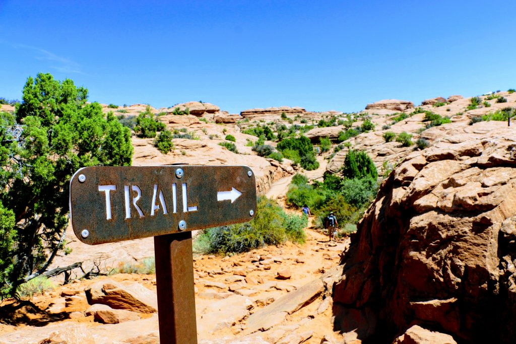 Delicate Arch Trail route