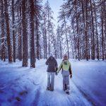 Een winterwandeling in het Lärchenwald