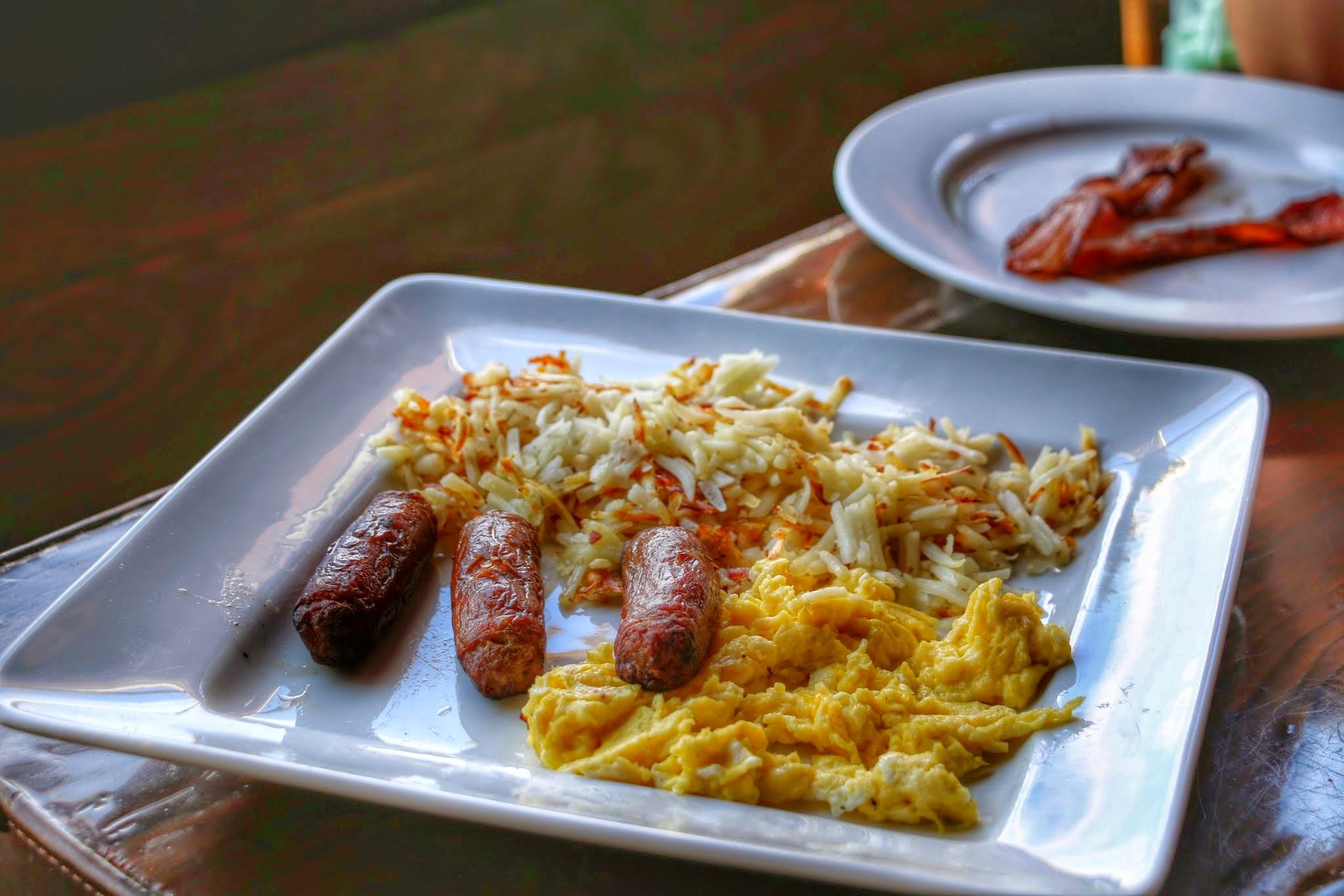 Ontbijt op een ranch