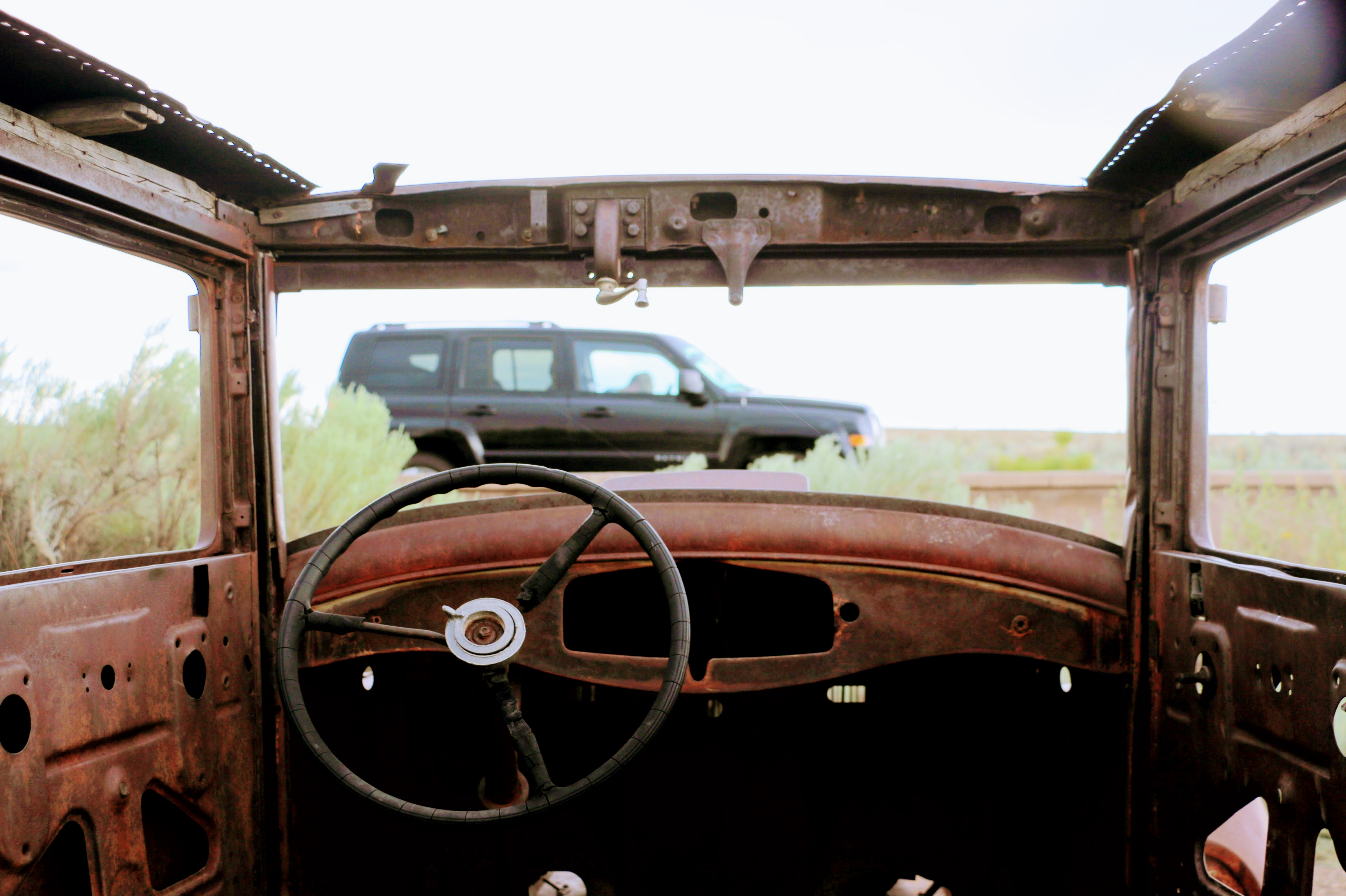 Oude verlaten auto Route 66