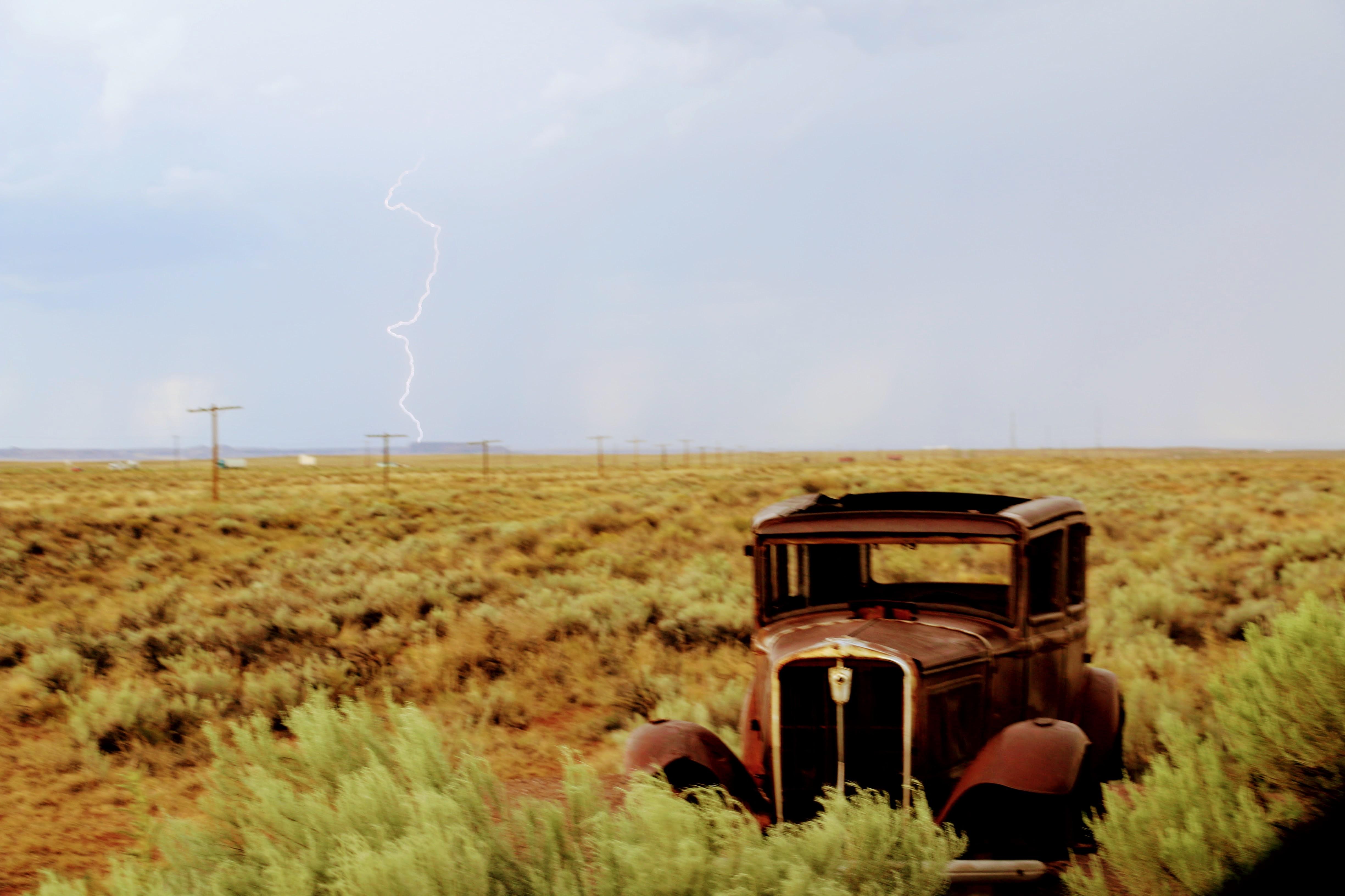 Warmte onweer Arizona Route 66