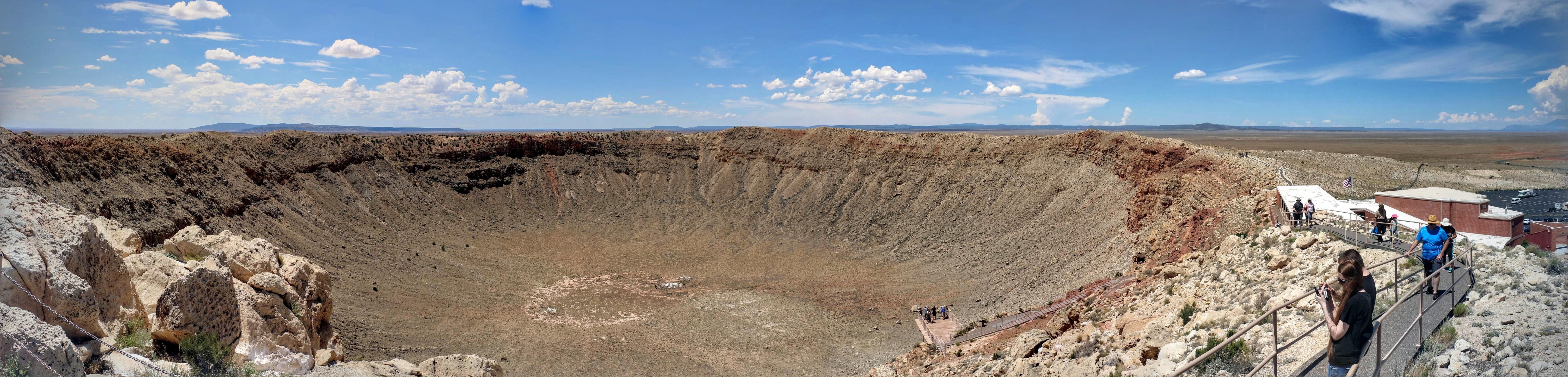 Panoramafoto meteorietkrater