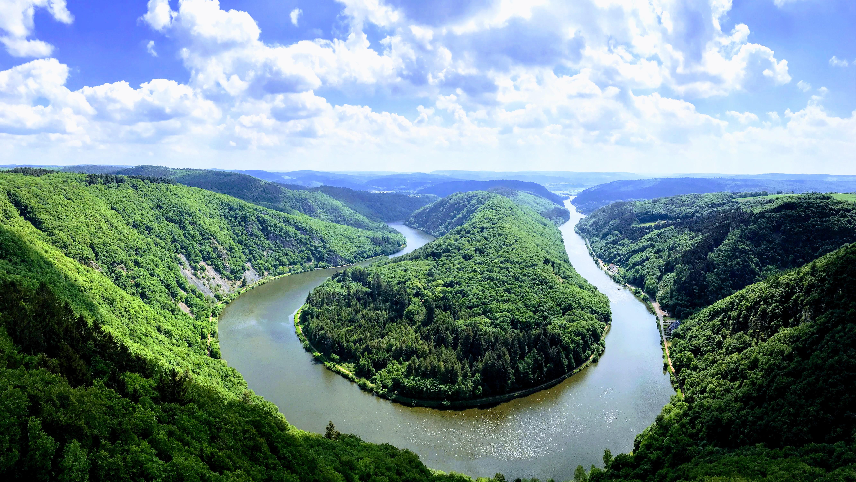 Bocht in de Saar Mettlach - uitzicht
