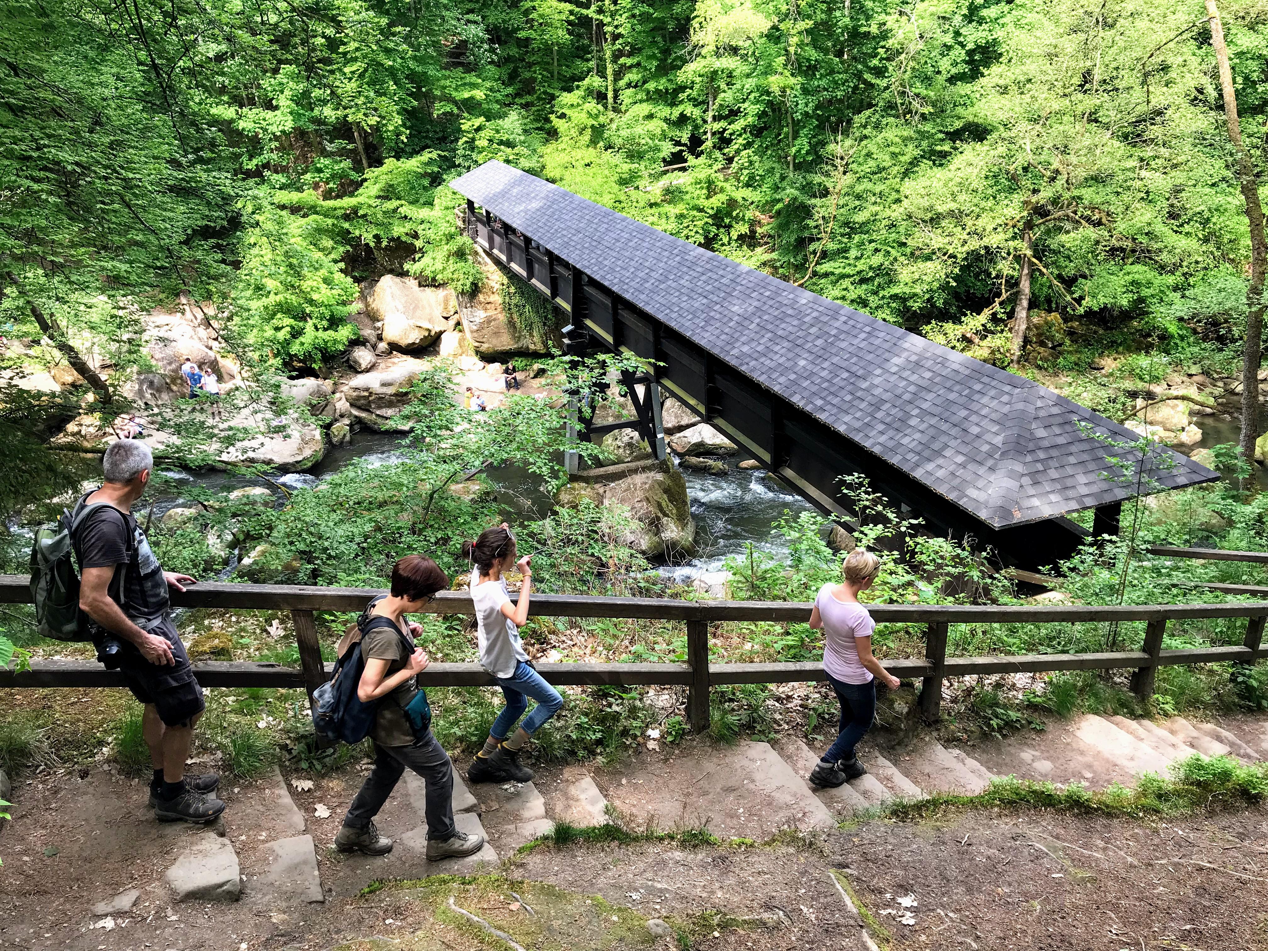 Wandelen aan de Irreler Wasserfälle