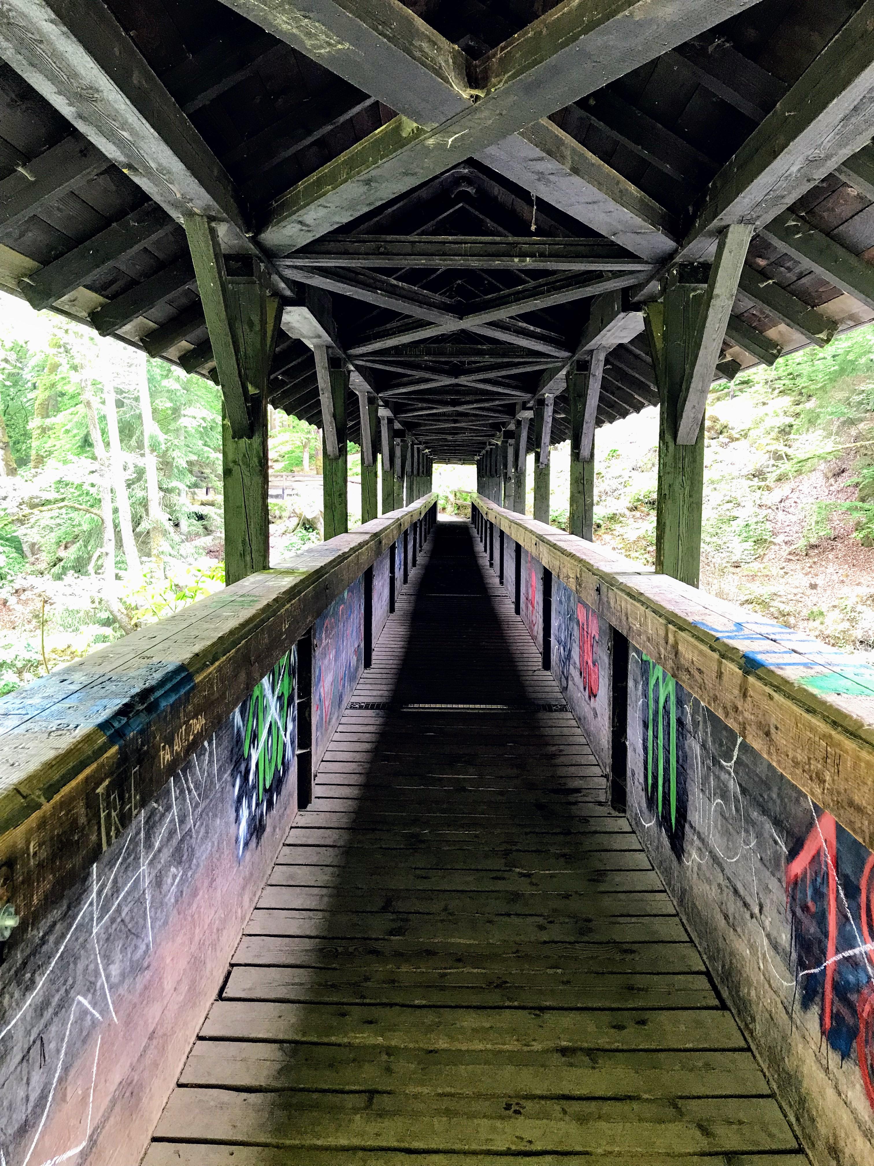Houten brug Irrel watervallen