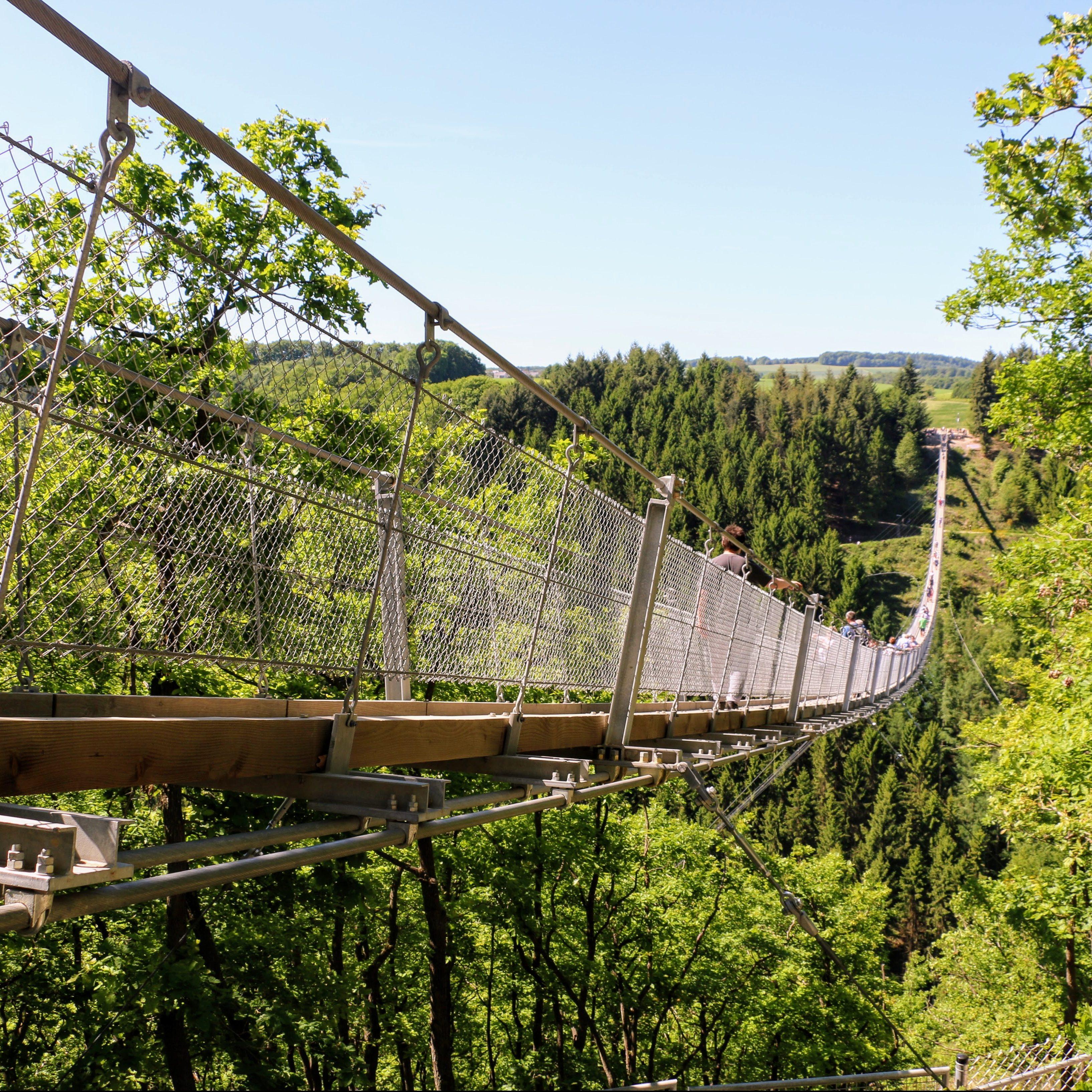De Geierlay: de langste hangbrug van Duitsland