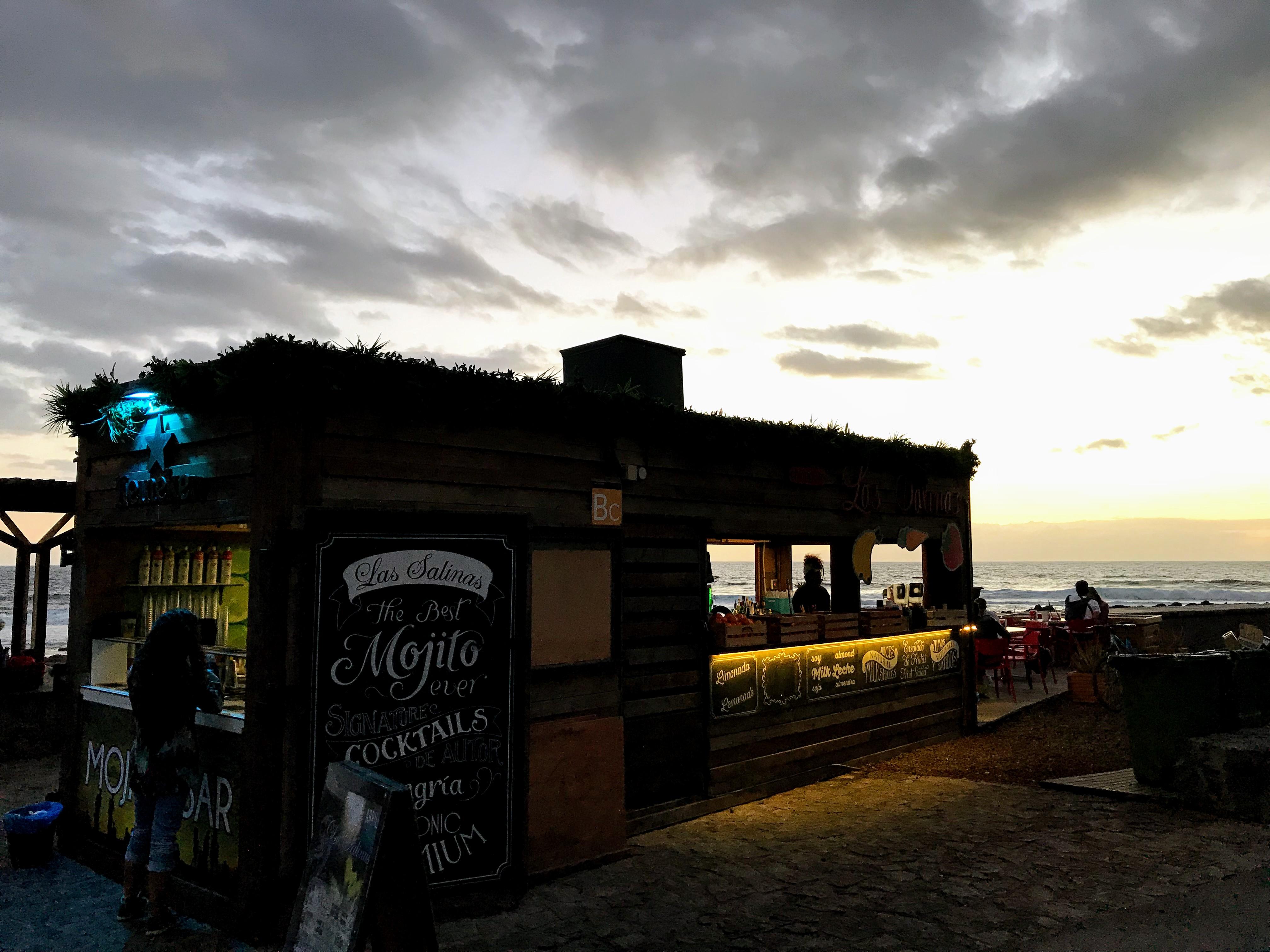 Chiringuito Las Salinas Tenerife strandbar & cocktailbar