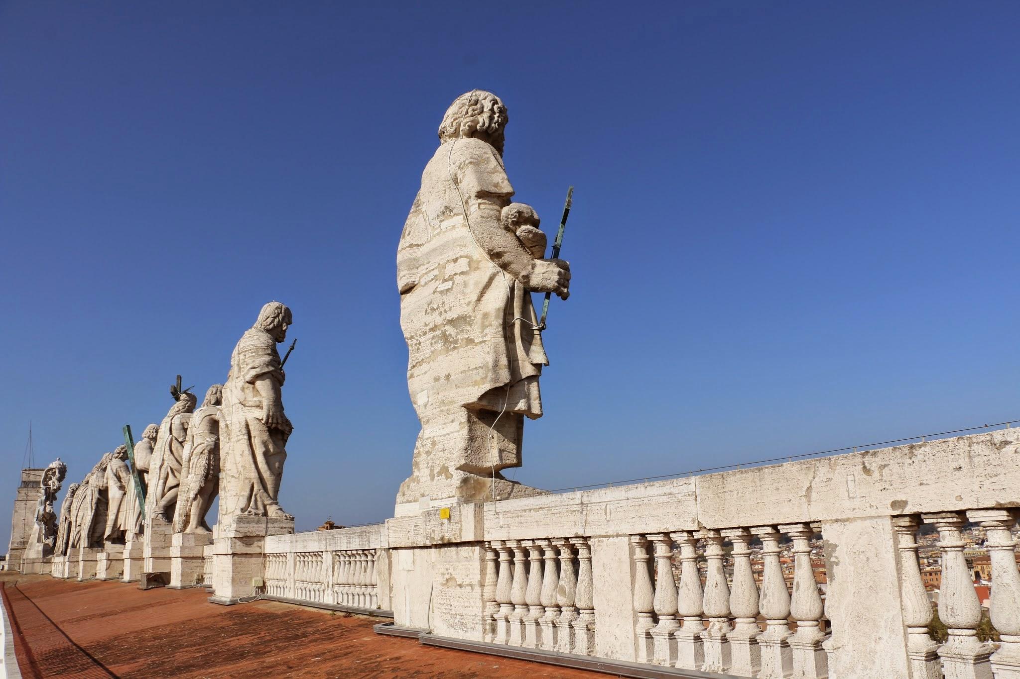 Dak van de Sint-Pietersbasiliek in Rome