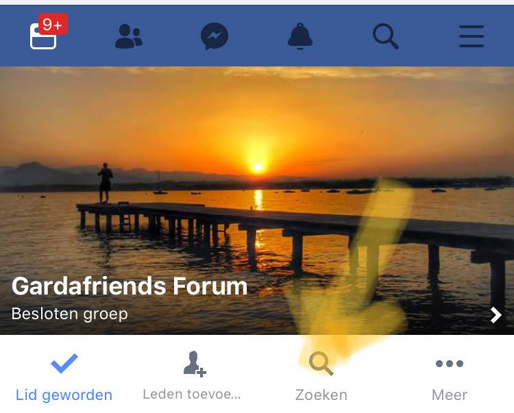 Zoeken binnen een Facebook groep