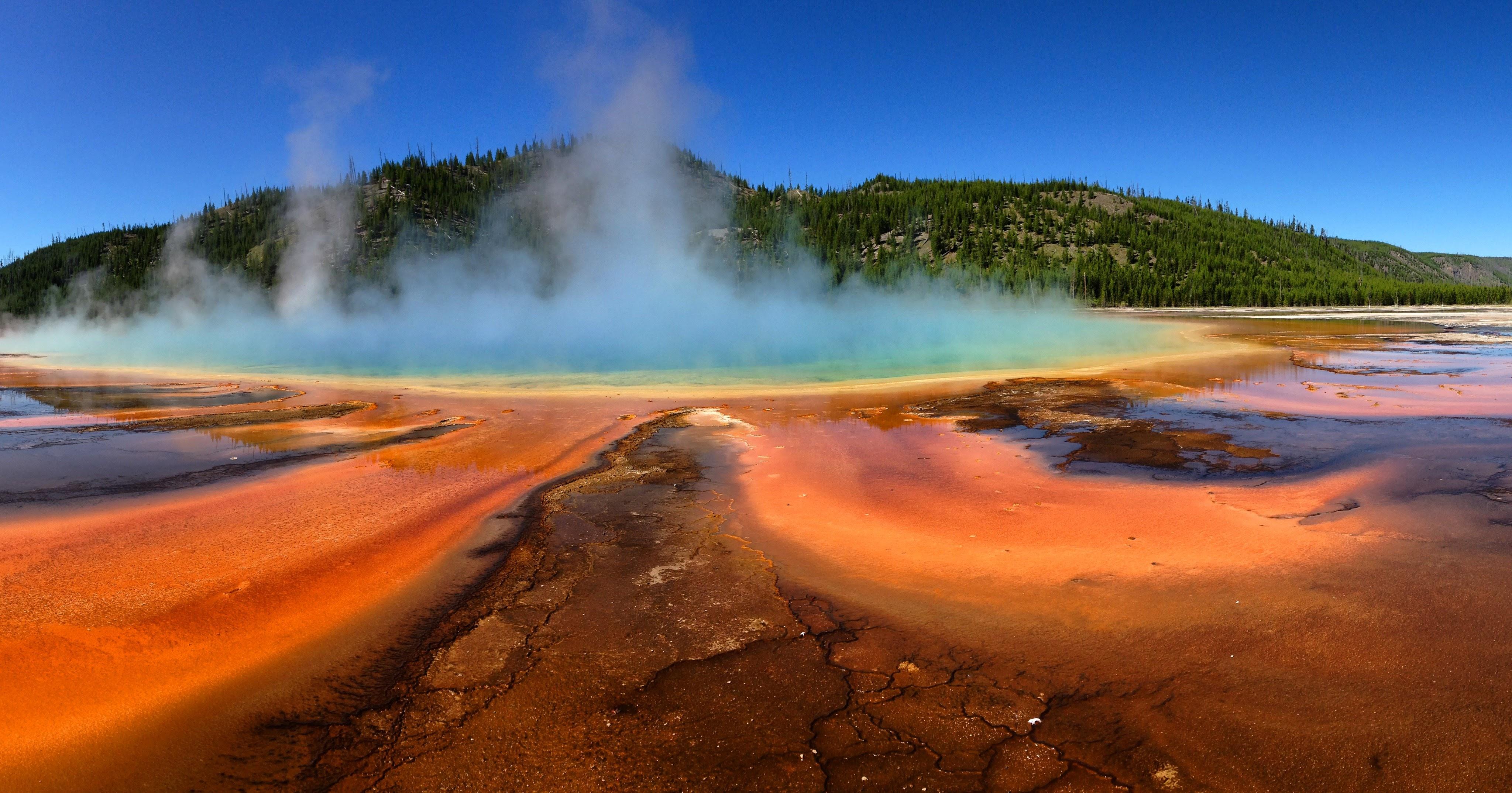 Mooie kleuren warmwaterbron Yellowstone