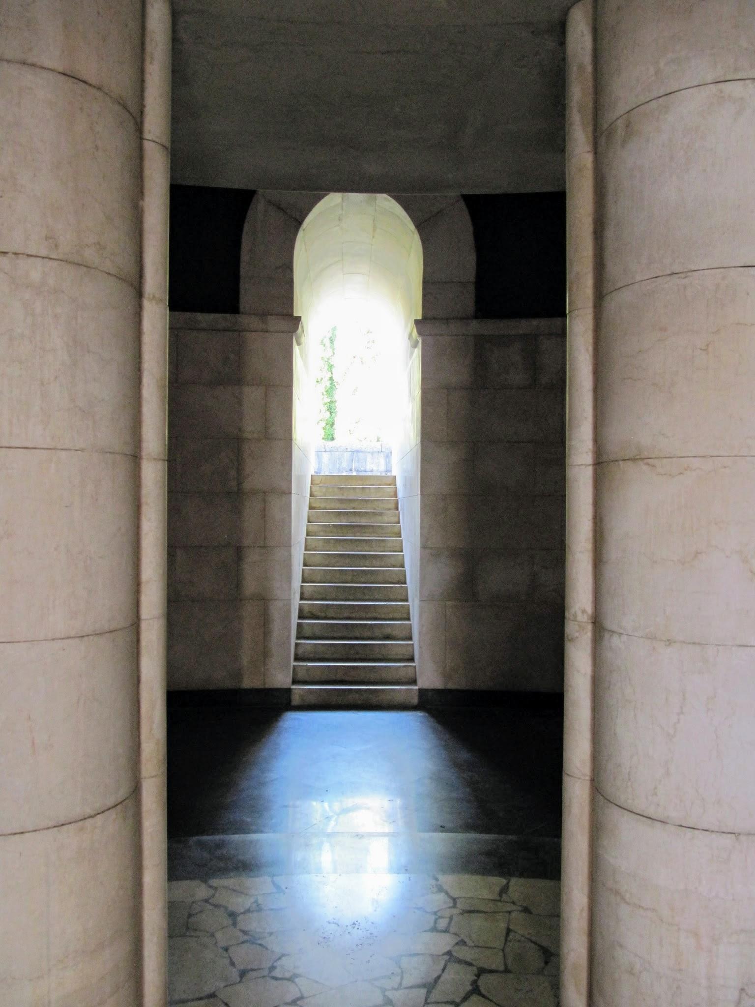 Trappen mausoleum Il Vittoriale Gardameer