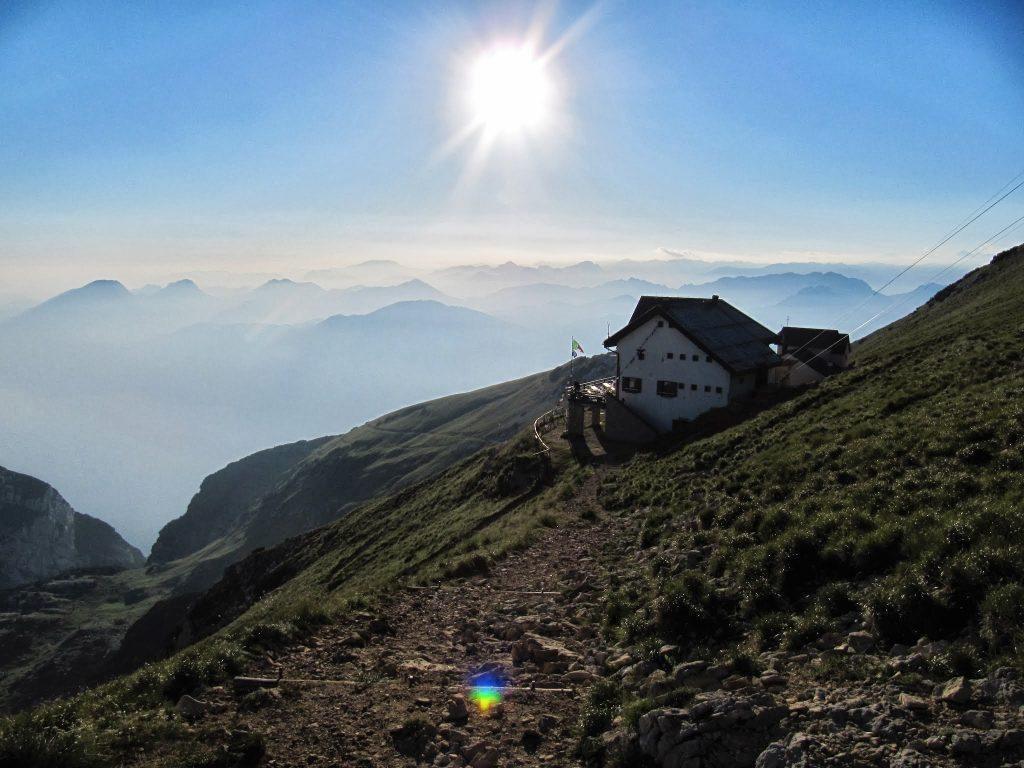 Een berghut op de Monte Baldo