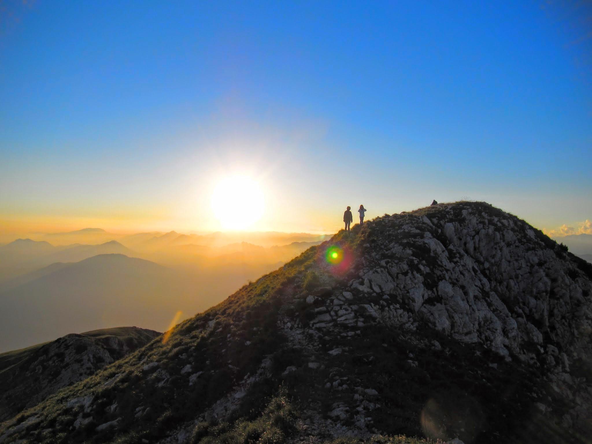 Bergtop Monte Baldo Gardameer beklimmen