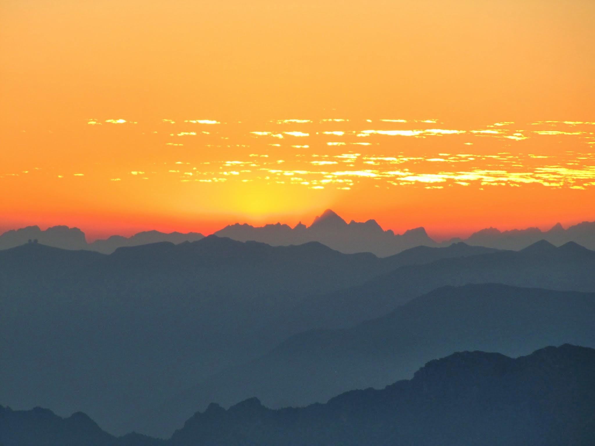 Zonsondergang Dolomieten