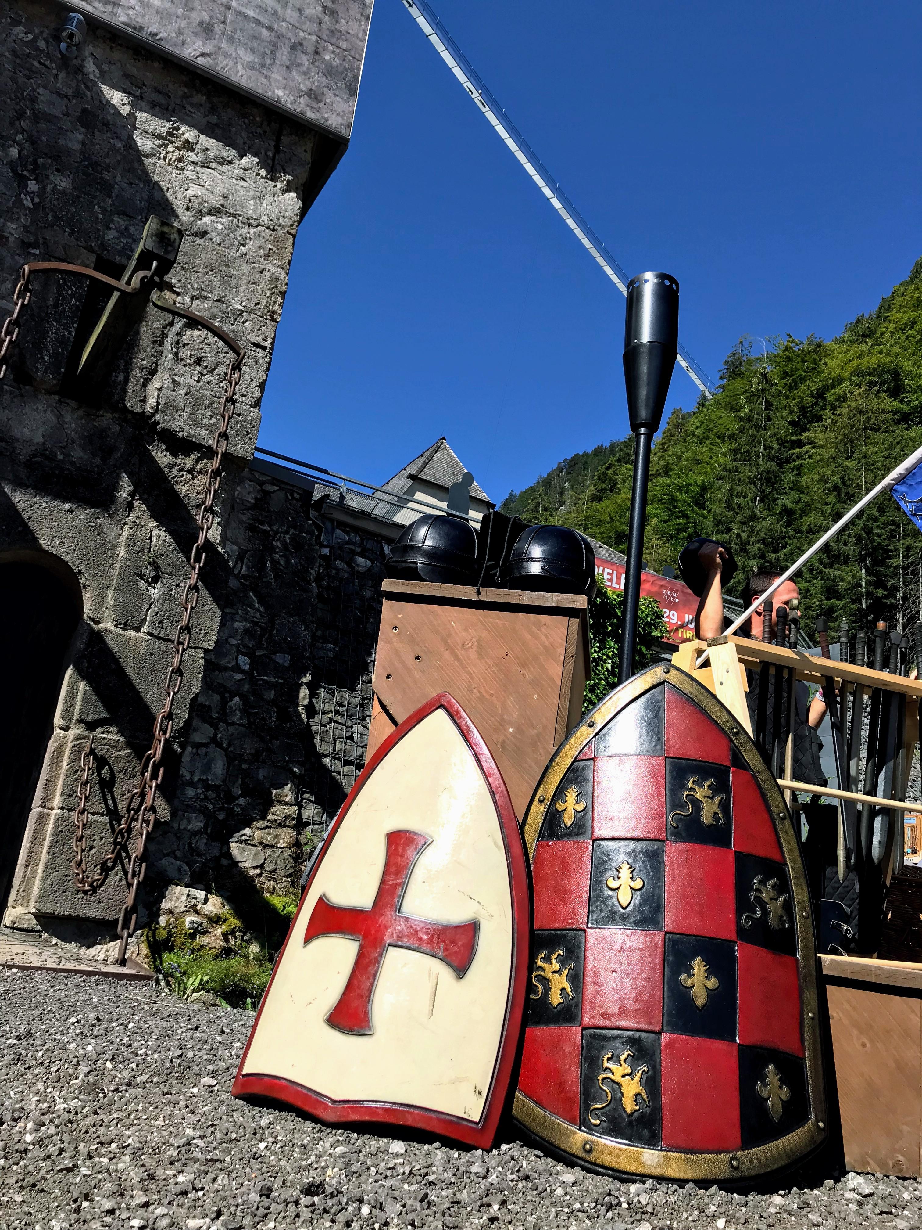 Mooie schilden van ridders