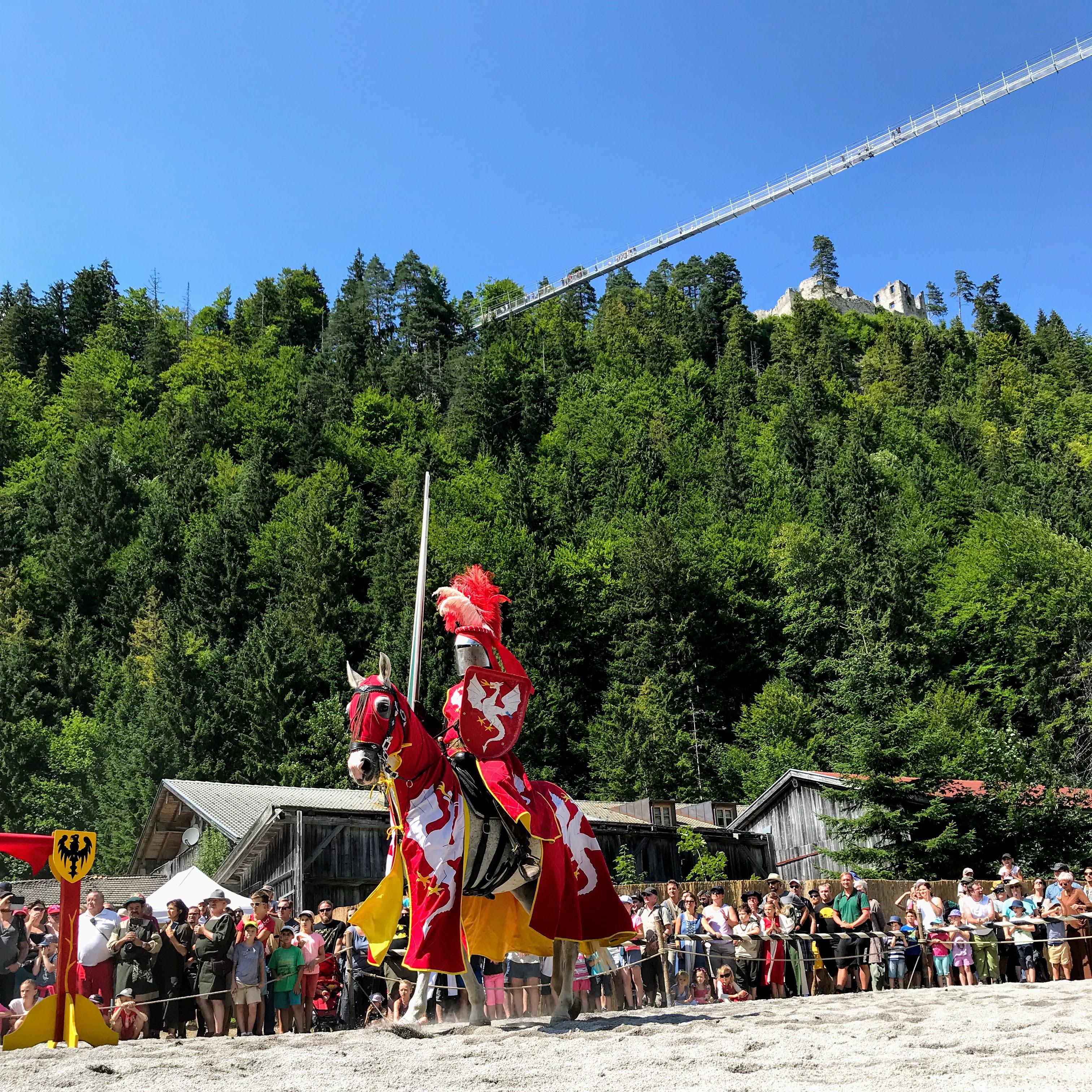 Riddertoernooi in Reutte Tirol Ehrenberg