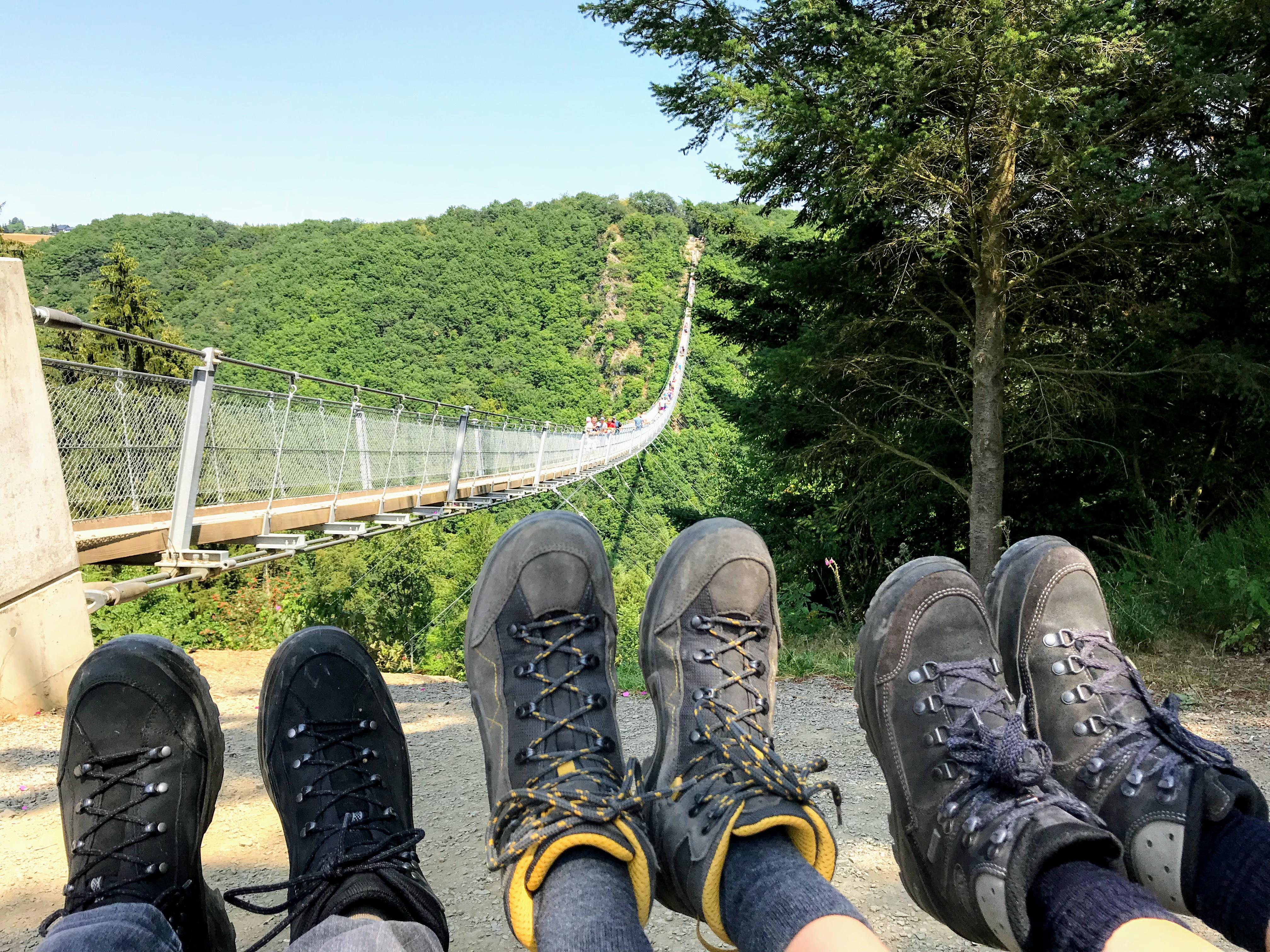 Wandeling Morsdorf Hangbrug aan de Moezel