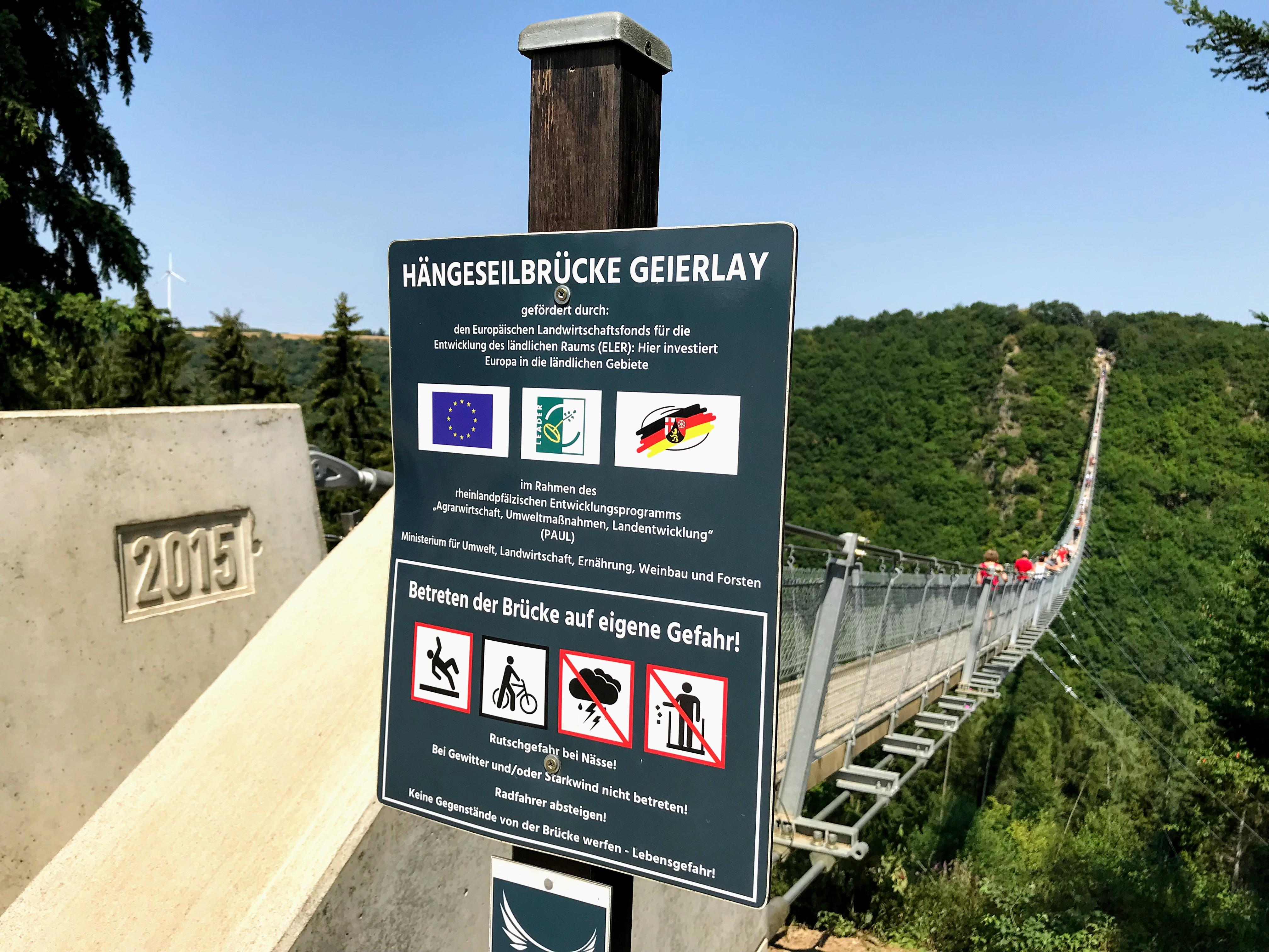 Langste hangbrug Duitsland Moezel