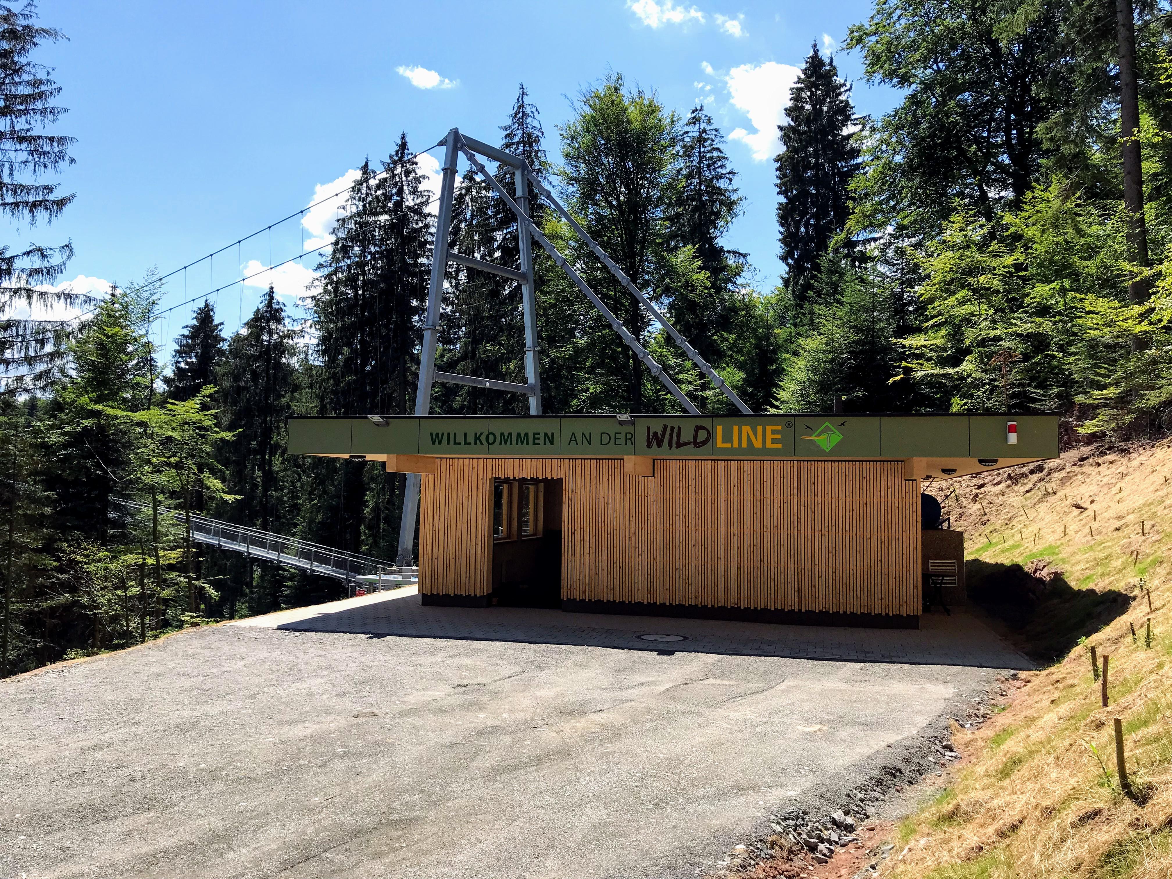 Inkom Wildline hangbrug Zwarte Woud