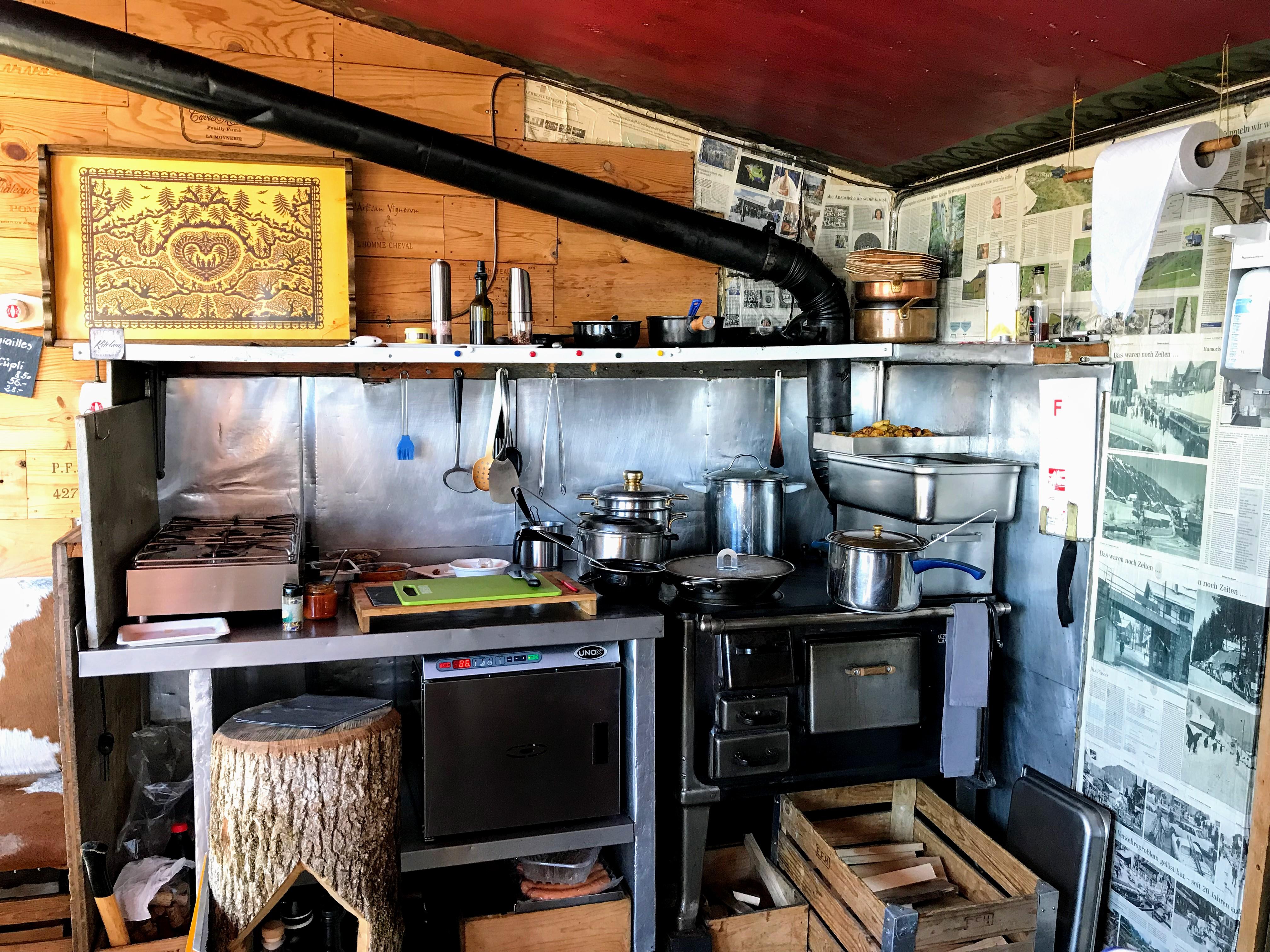Keuken Zwitserse berghut