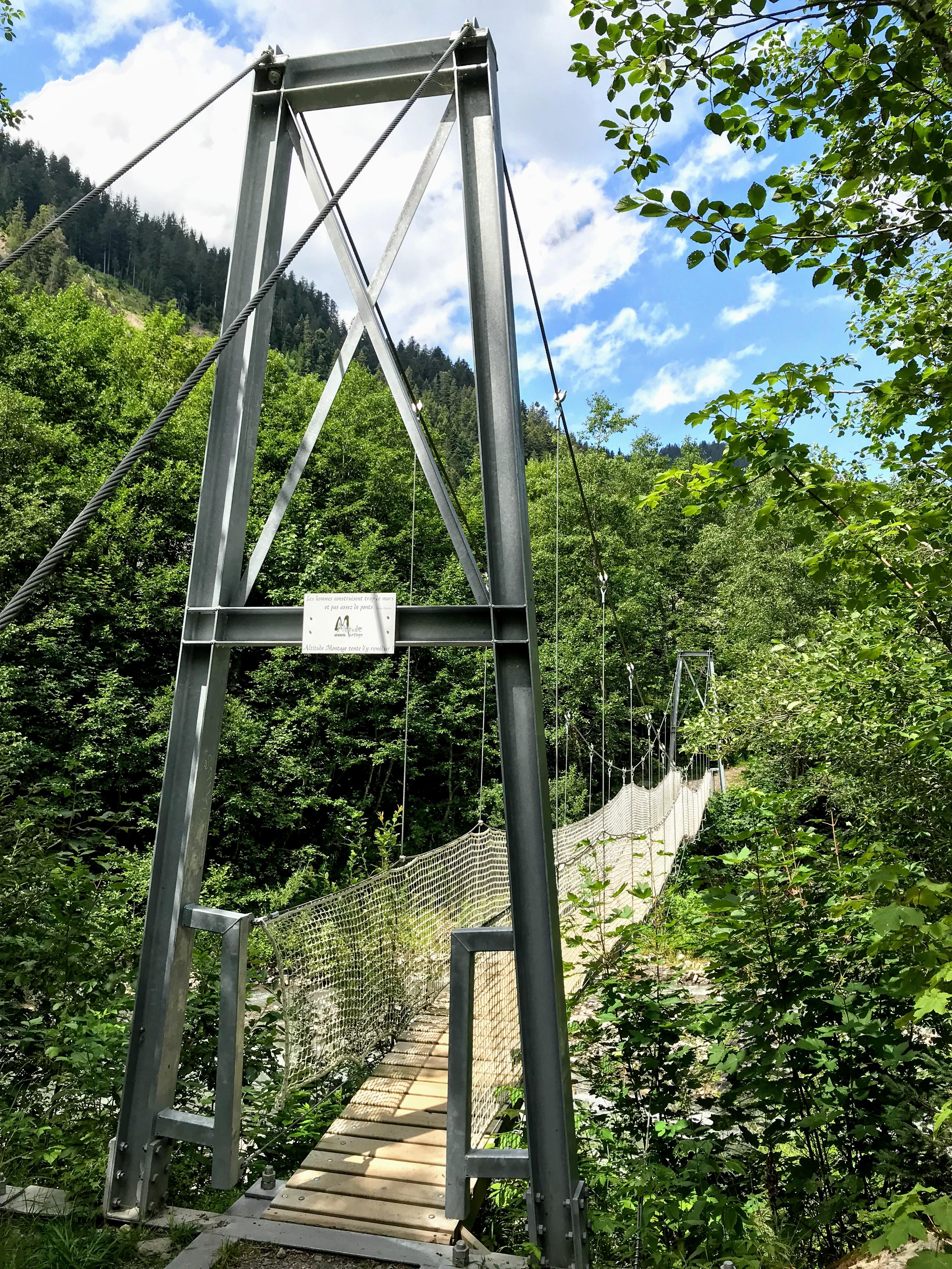 Hangbrug in Diablerets Ormont-Dessus