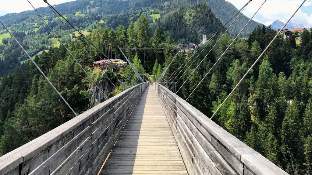 Benni Raich-Brücke hangbrug bungee springen