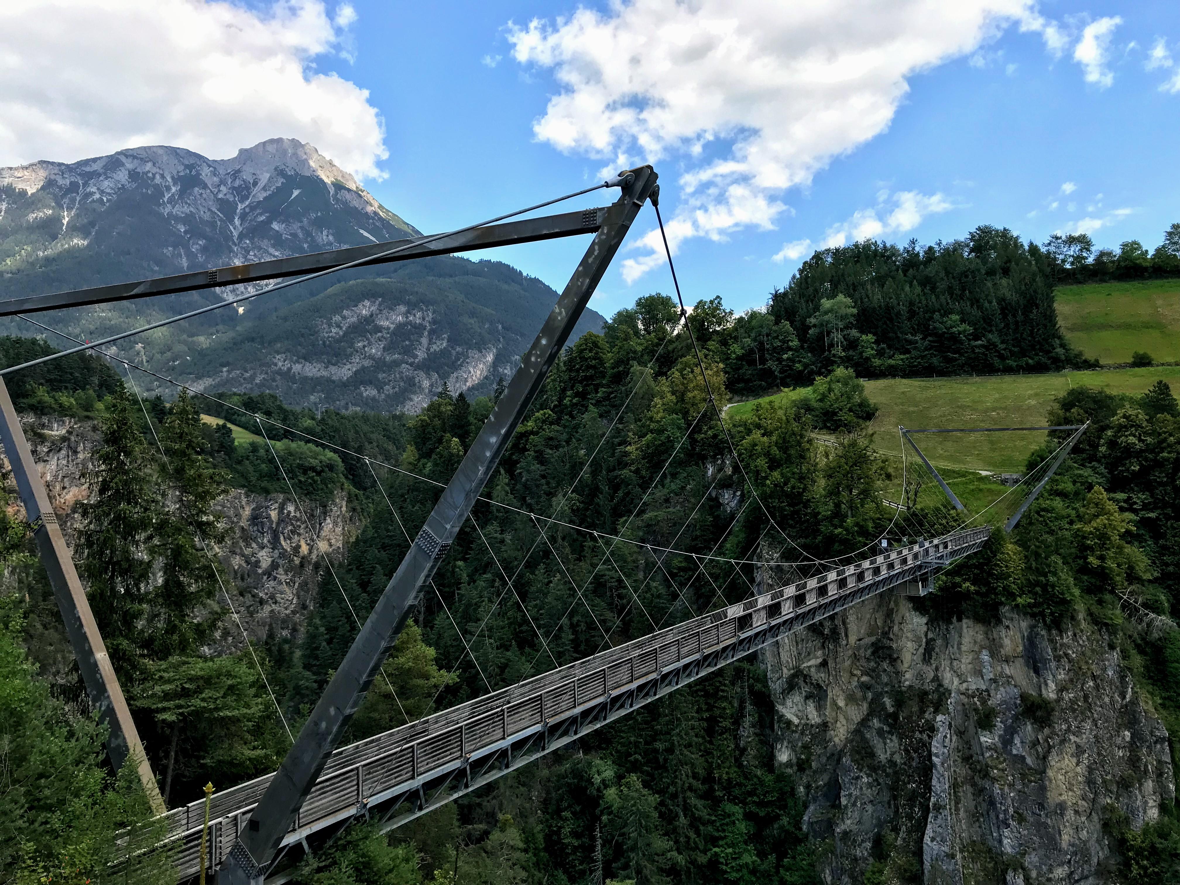 Benni Raich-Brücke hangbrug Pitztal