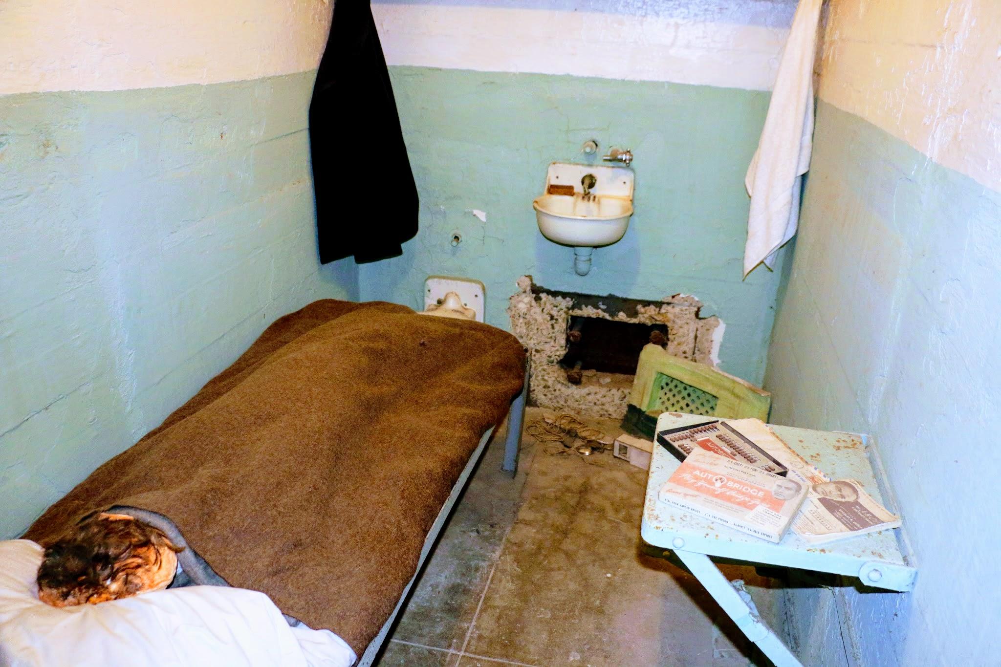 Cel met ontsnapping Alcatraz gevangenis