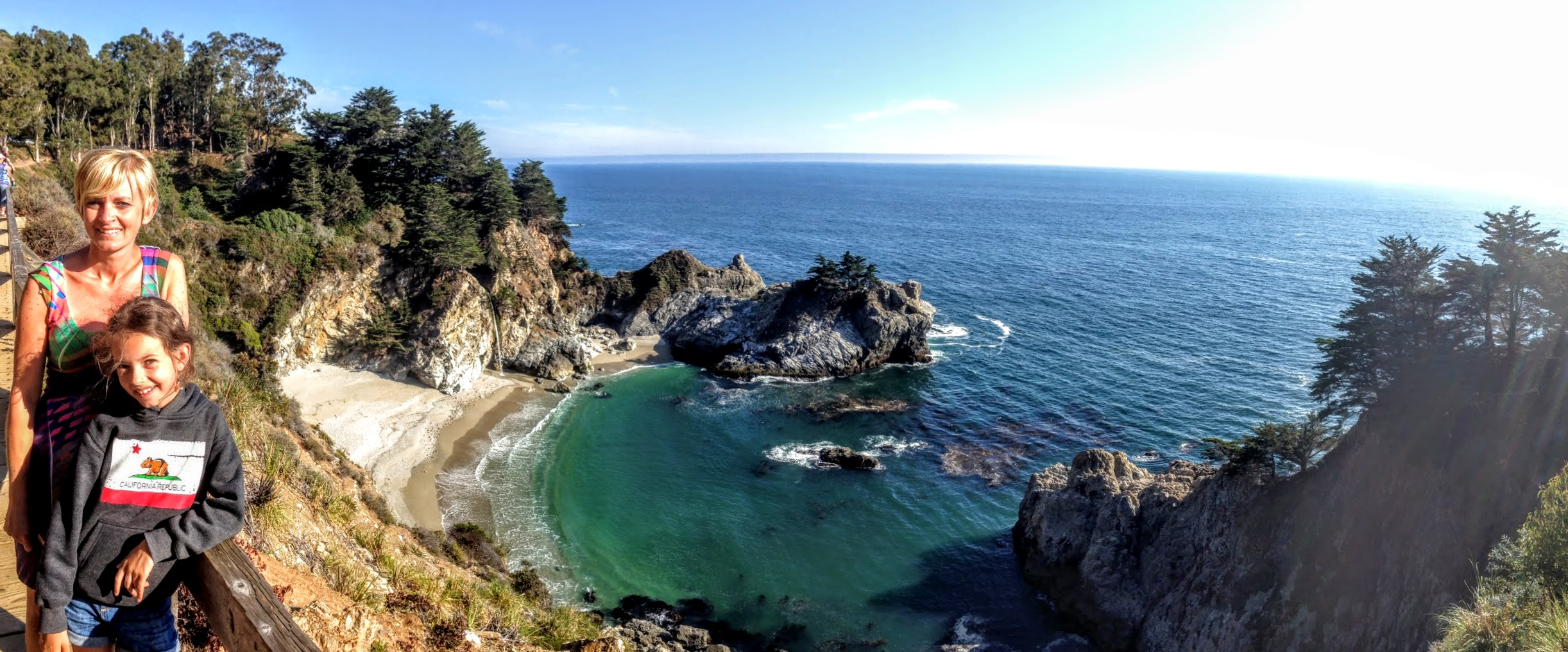 Julia Pfeiffer Burns State Park panorama