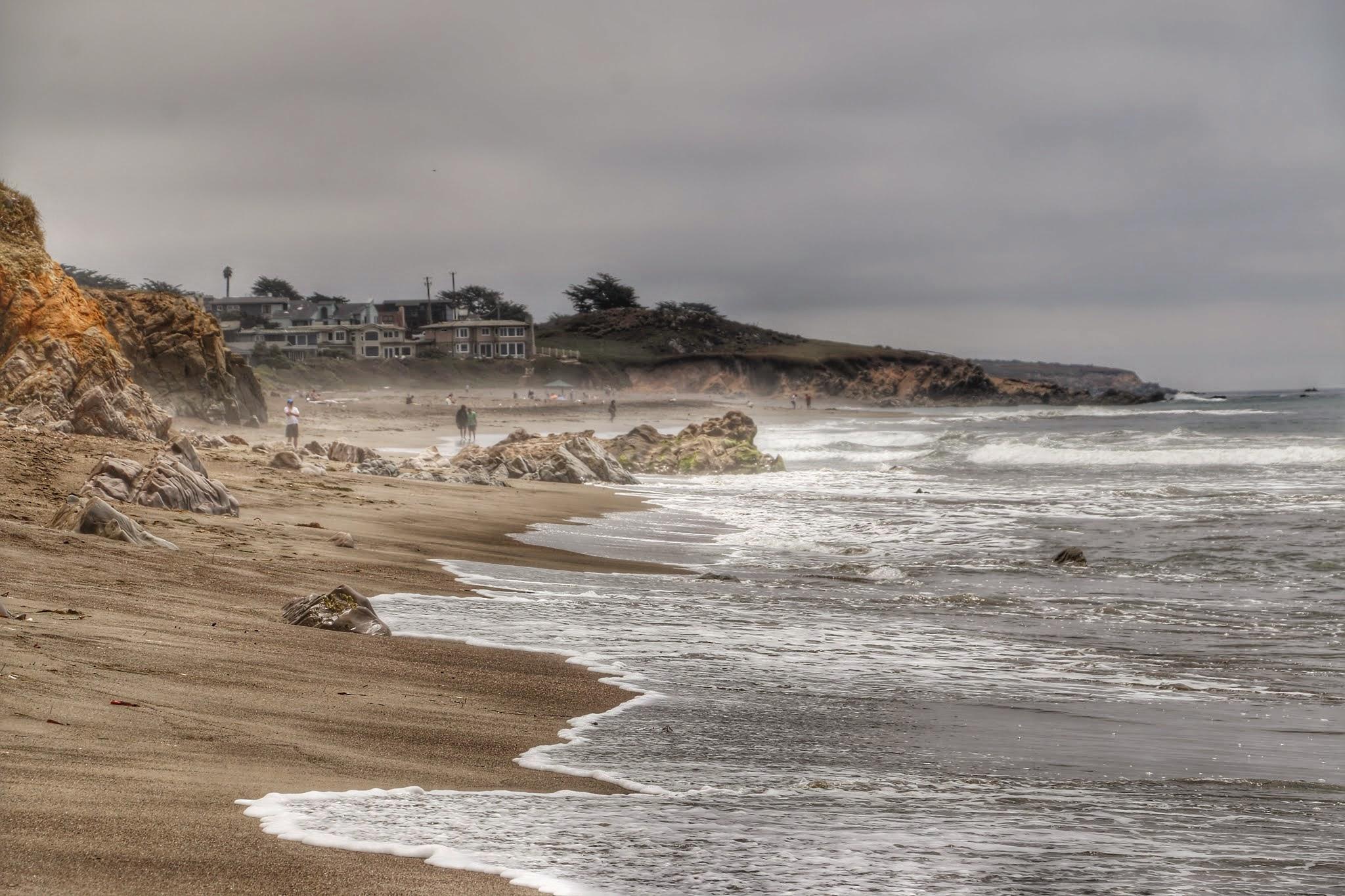 Zeemist boven Moonstone beach