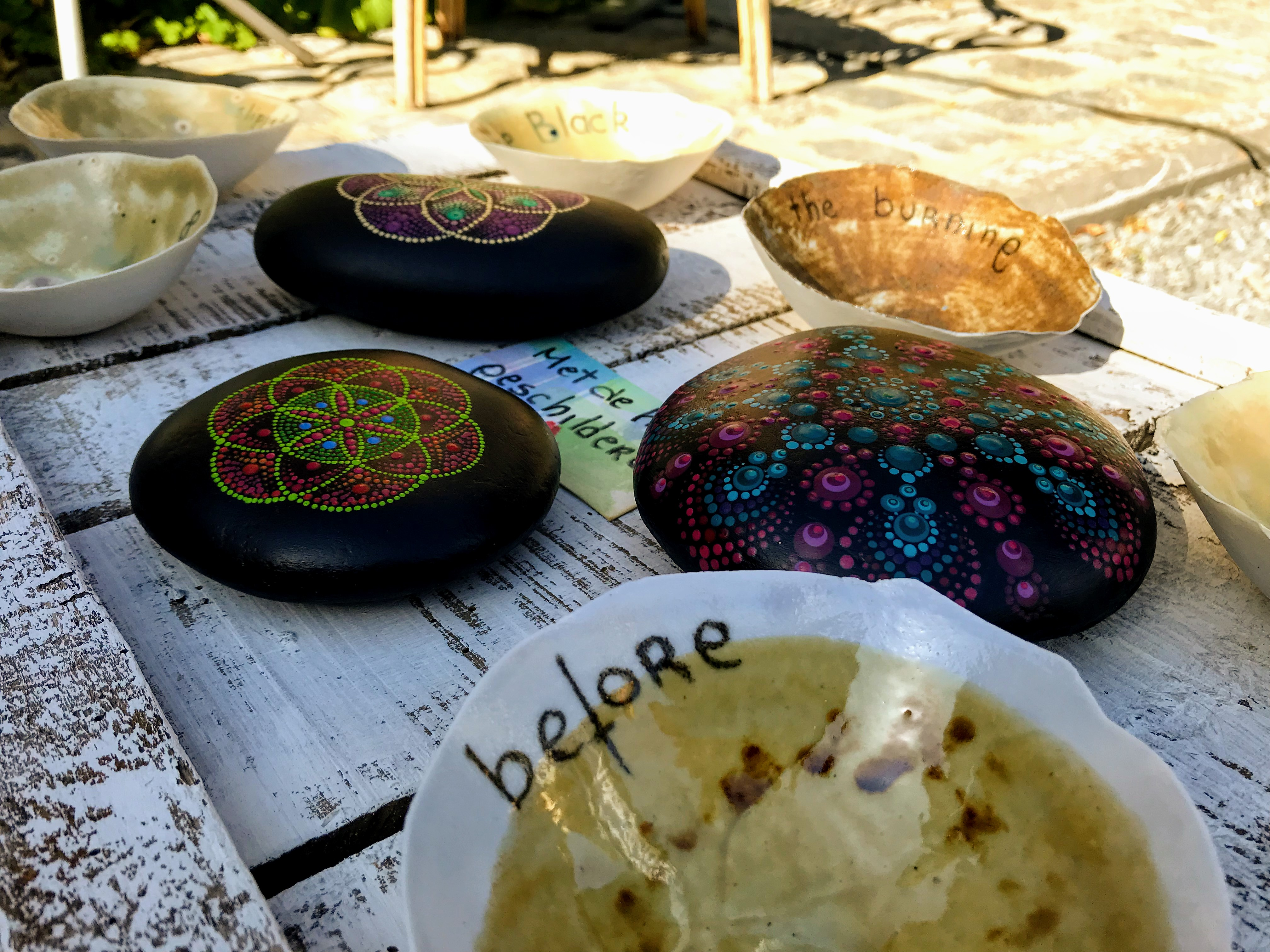 Ambachten en stenen schilderen Nieuwenhoven vreucht van eigen bodem
