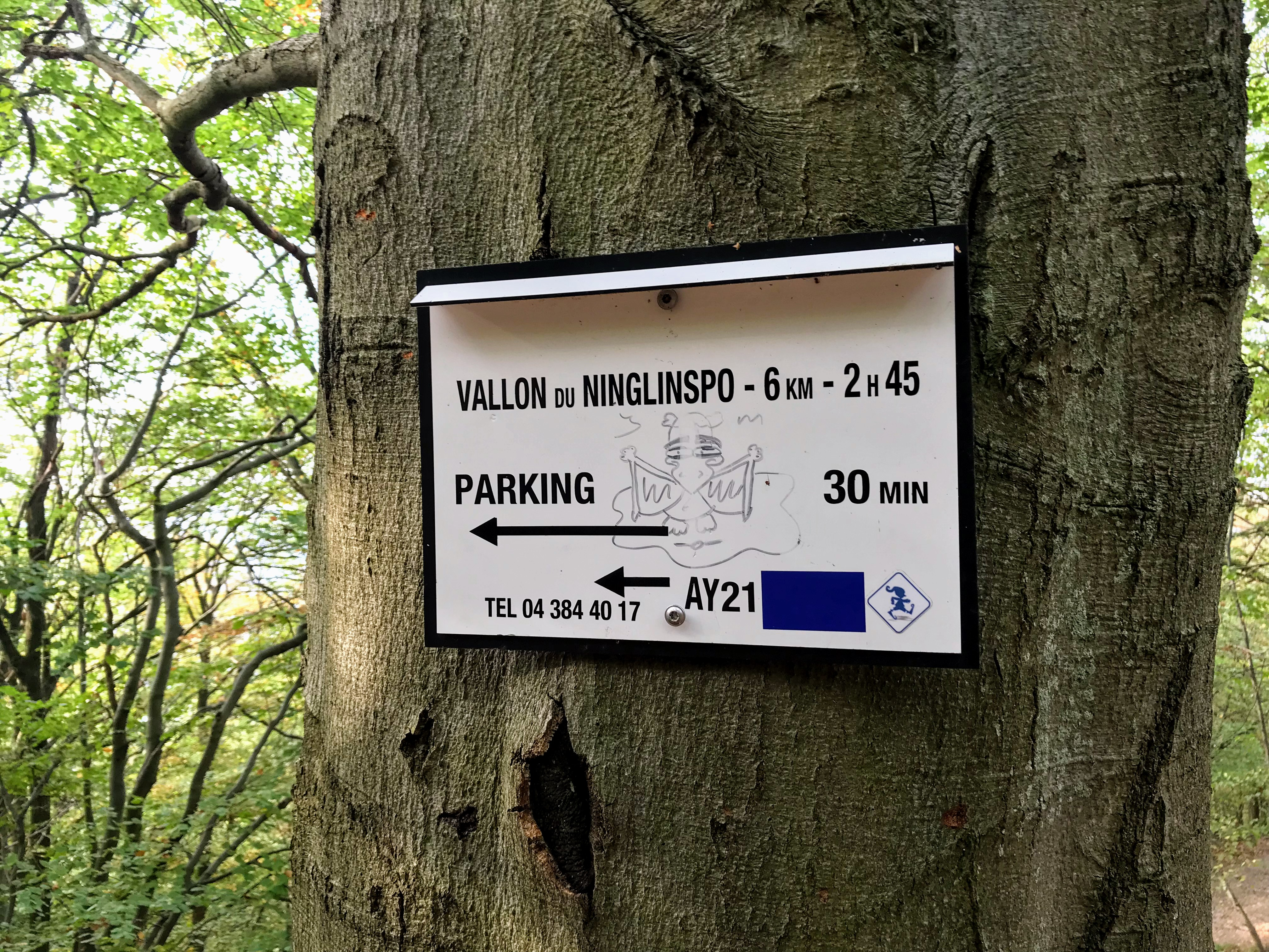 Terug naar de parking aan de Ninglinspo
