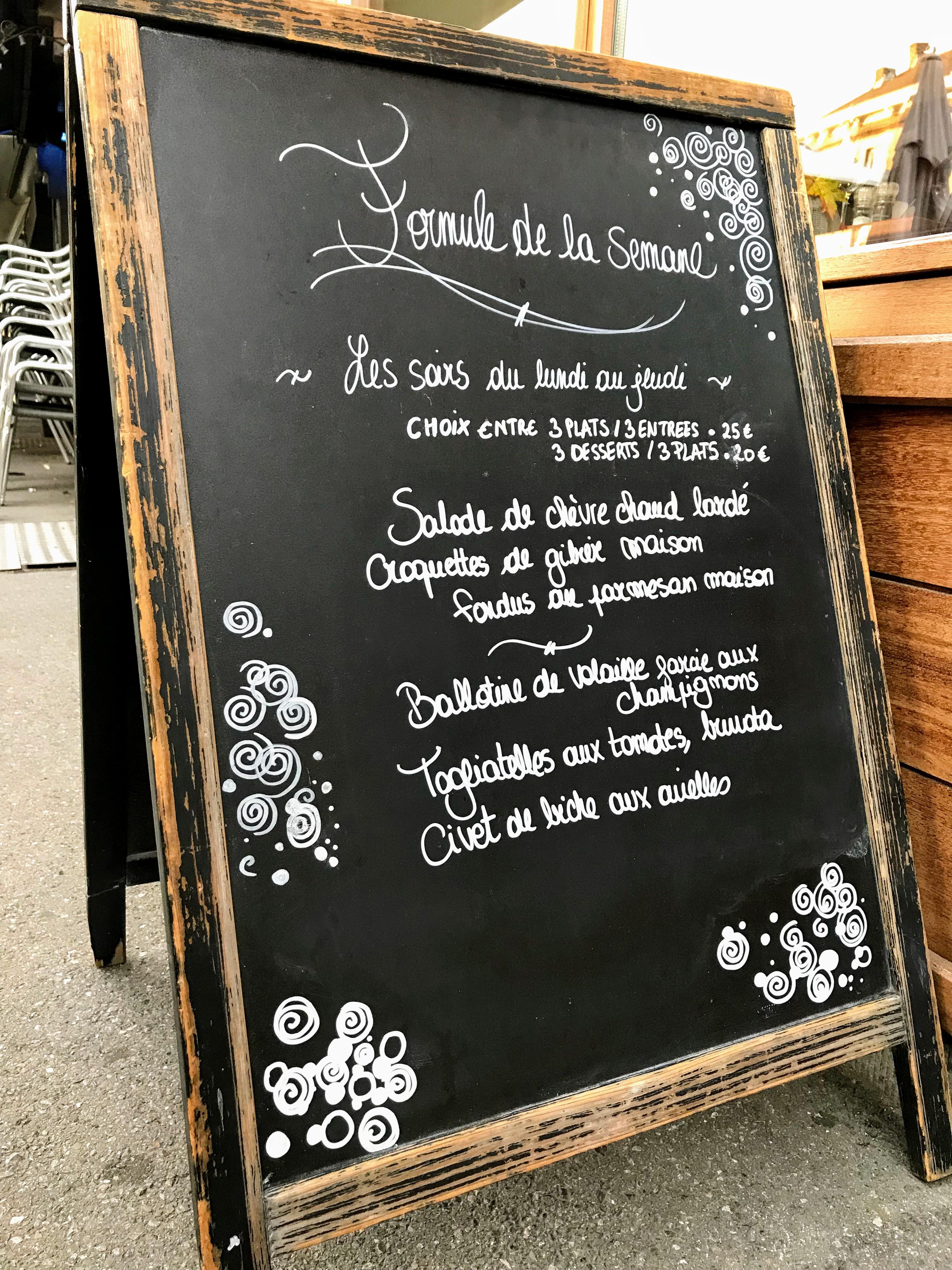 Esca'Lindt menu